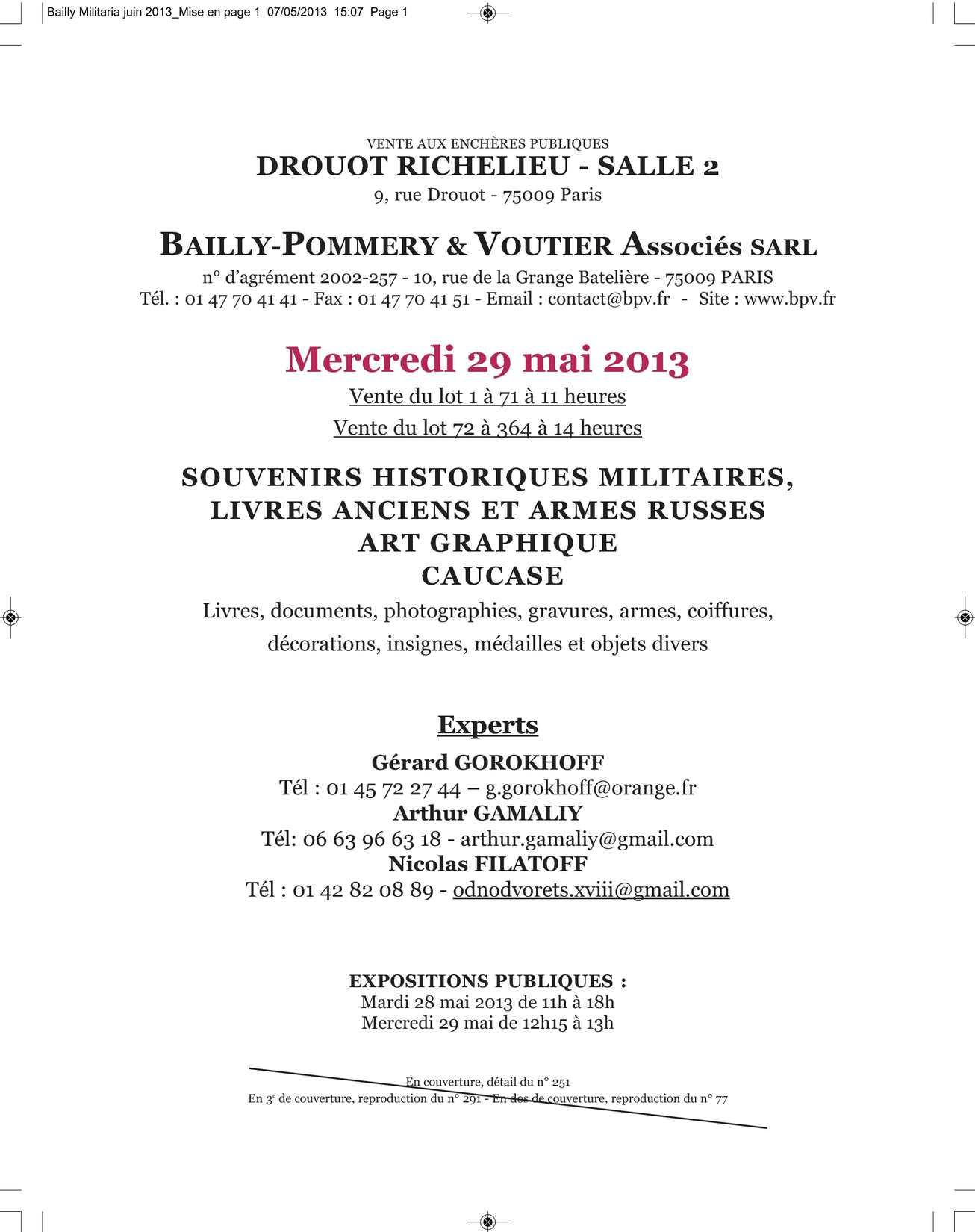 46ada2fce Calaméo - Catalogue Militaria