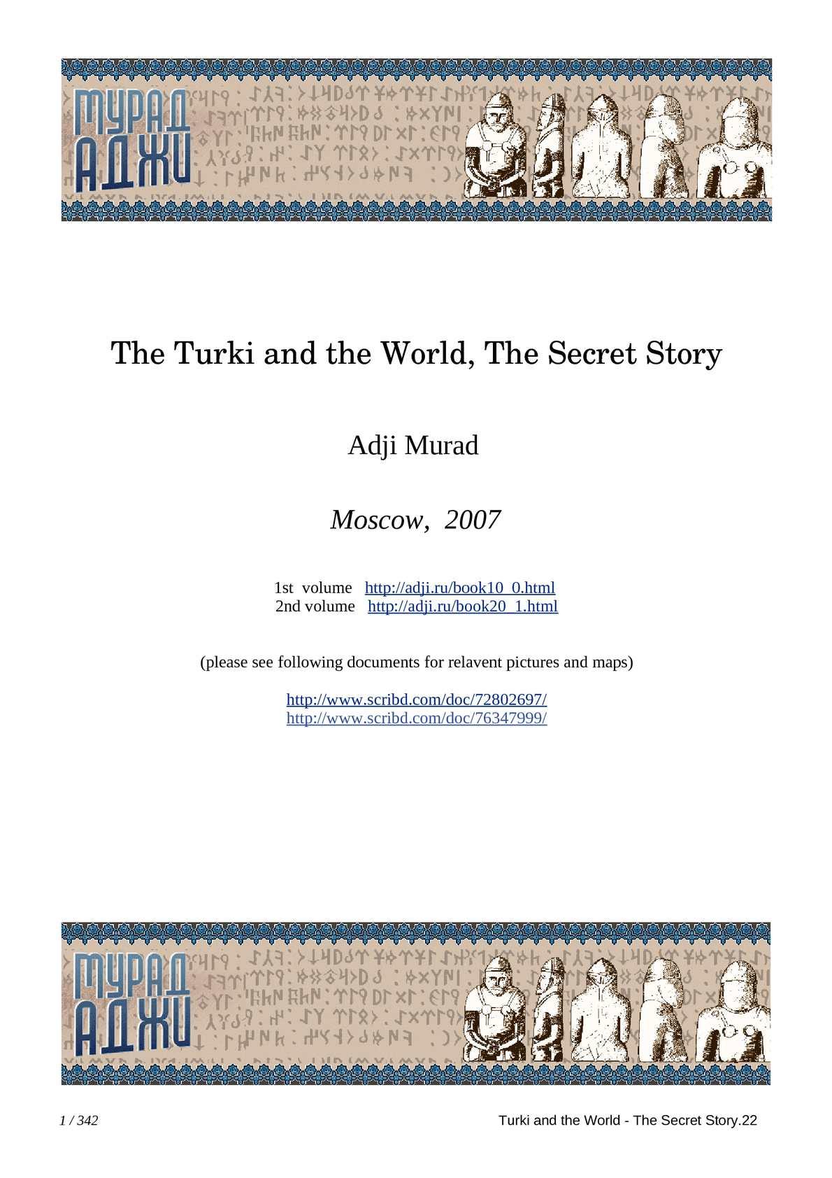 Calaméo - Avrasya - Turks and the World, Secret Story v2-M Adji