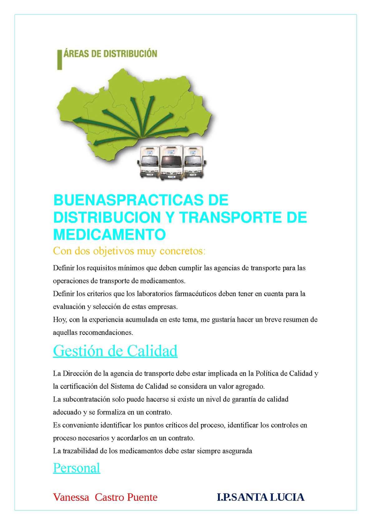 Objetivos de calidad de una empresa de transporte