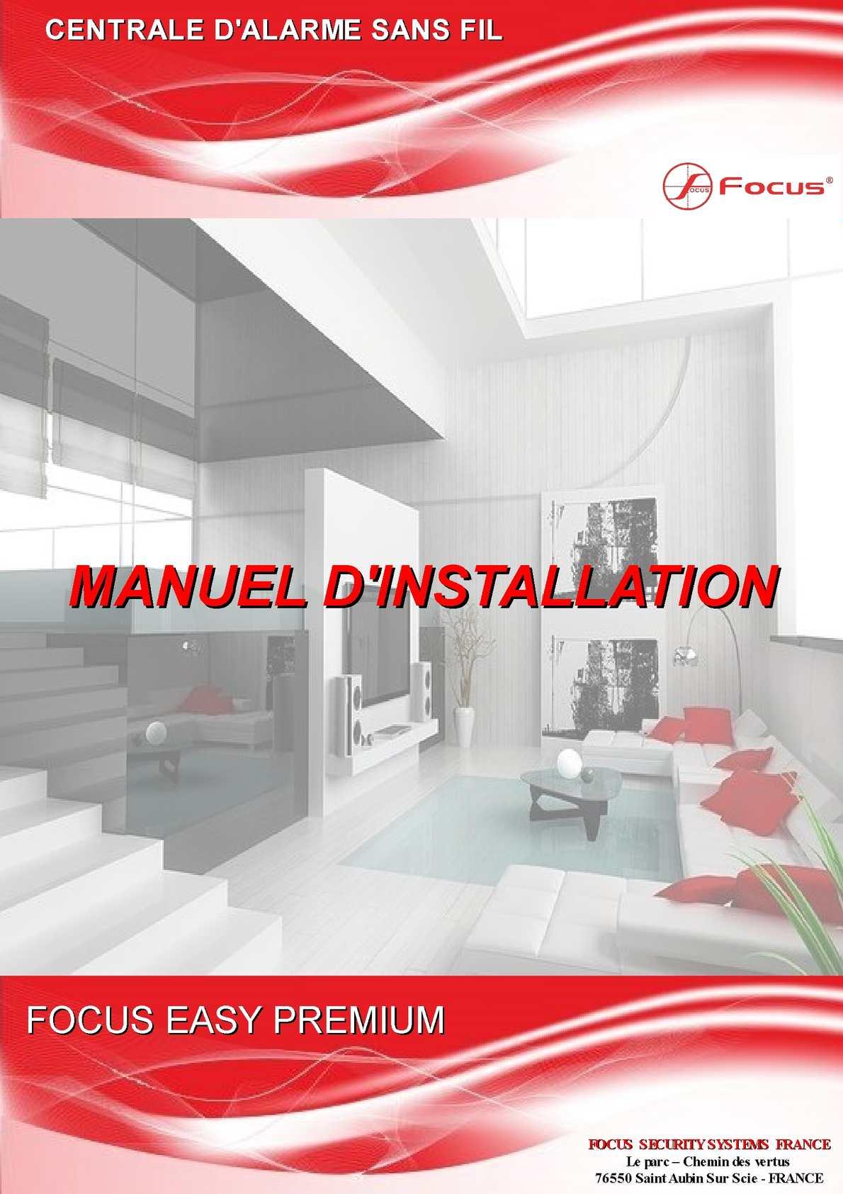 calam o notice centrale d 39 alarme sans fil focus easy. Black Bedroom Furniture Sets. Home Design Ideas