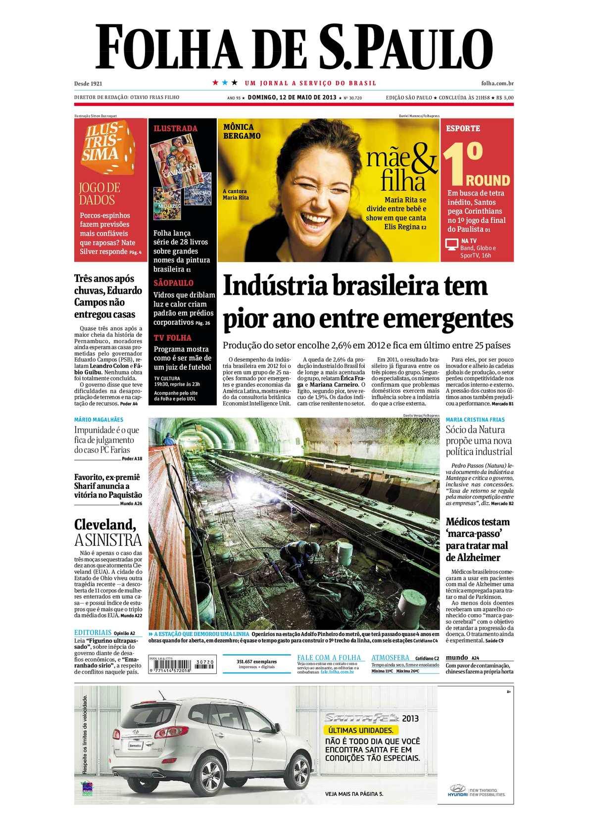 e75ef00ef5e Calaméo - Folha de São Paulo 12-05-2013