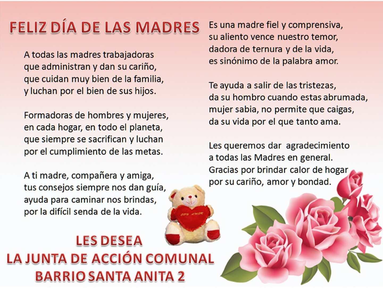 Feliz Dia De La Madre – Una madre es aquella mujer luchadora, valiente, soñadora, sacrificada y que da todo por sus hijos sin esperar nada a cambio.