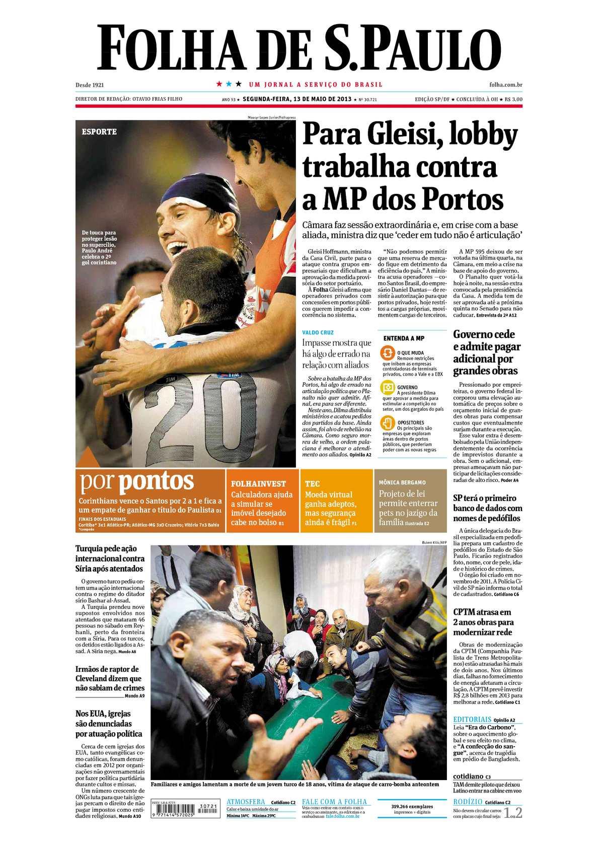 Calaméo - Folha de São Paulo 13-05-2013 ebe416de46c