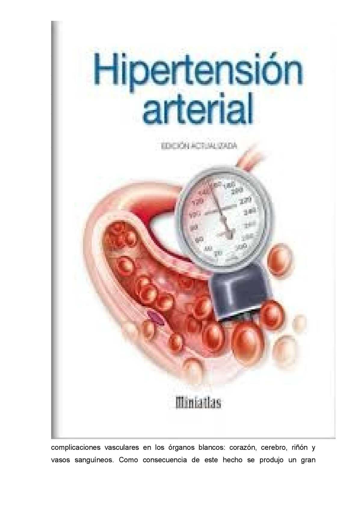 Hipertensión arterial vasos sanguíneos retinianos
