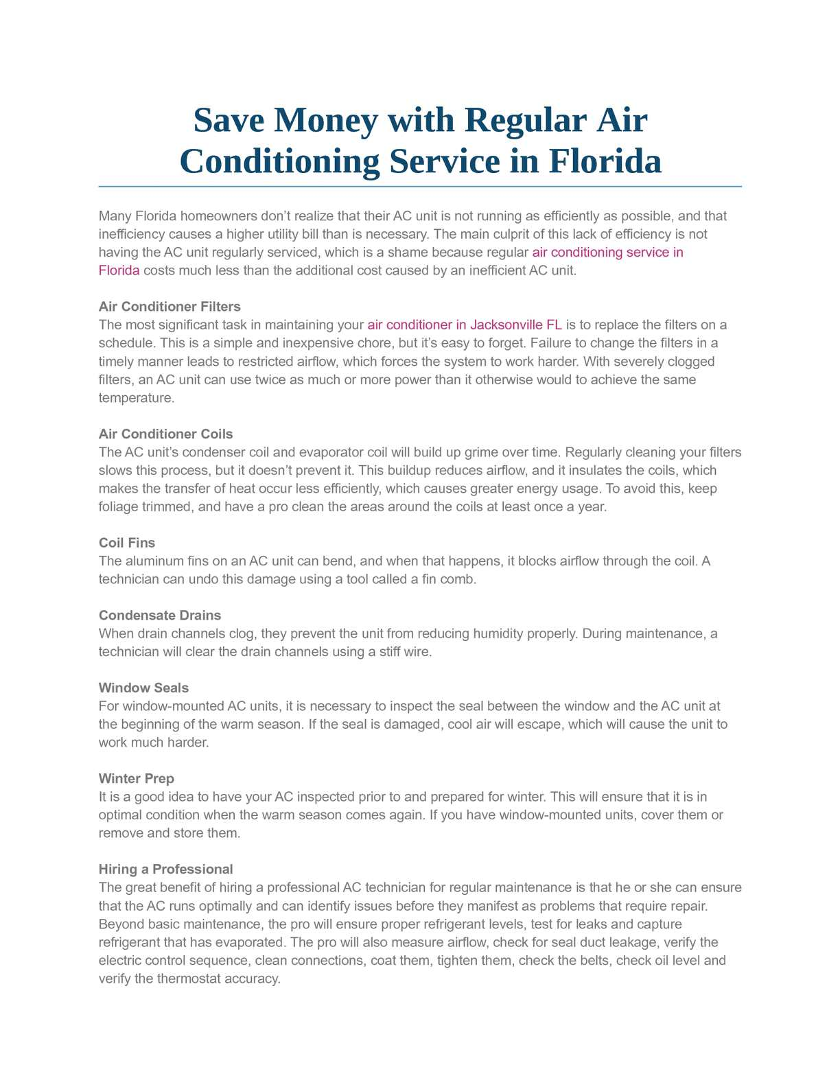 Calaméo - Save Money with Regular Air Conditioning Service