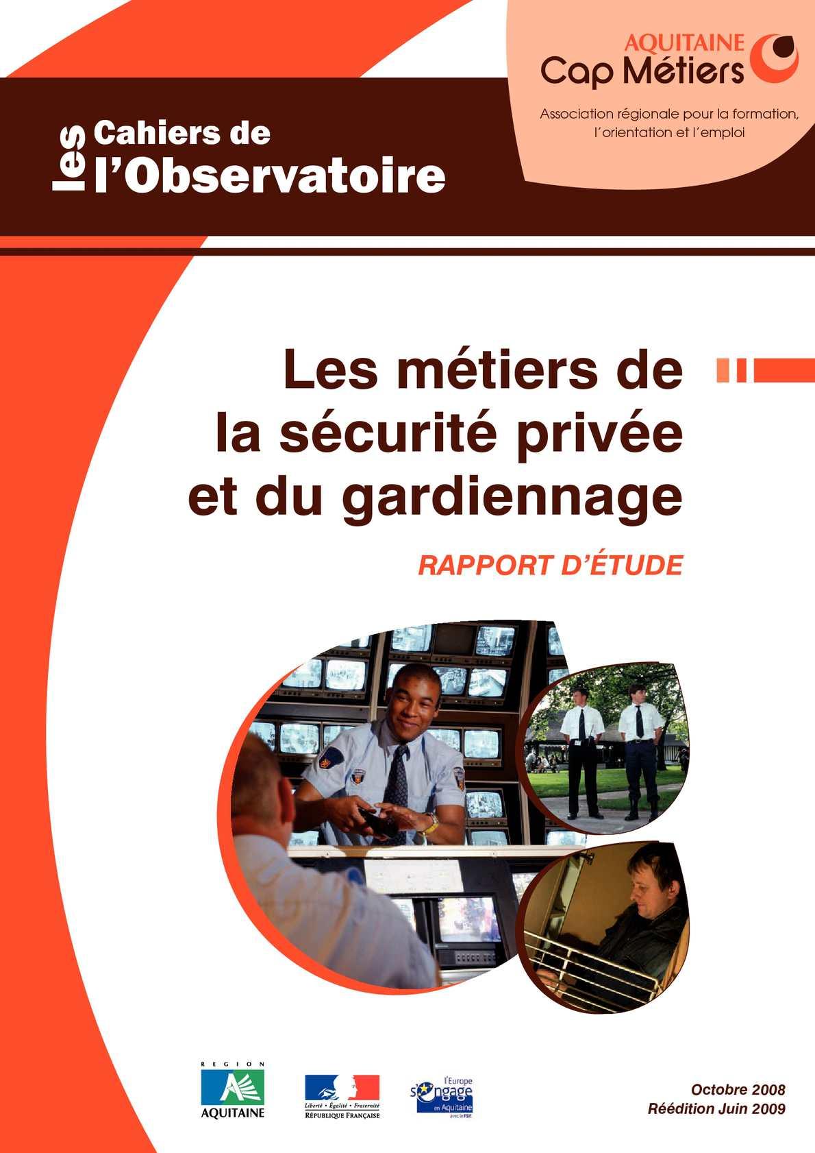 Calaméo Cahiers De L Observatoire Sécurité Privée Et