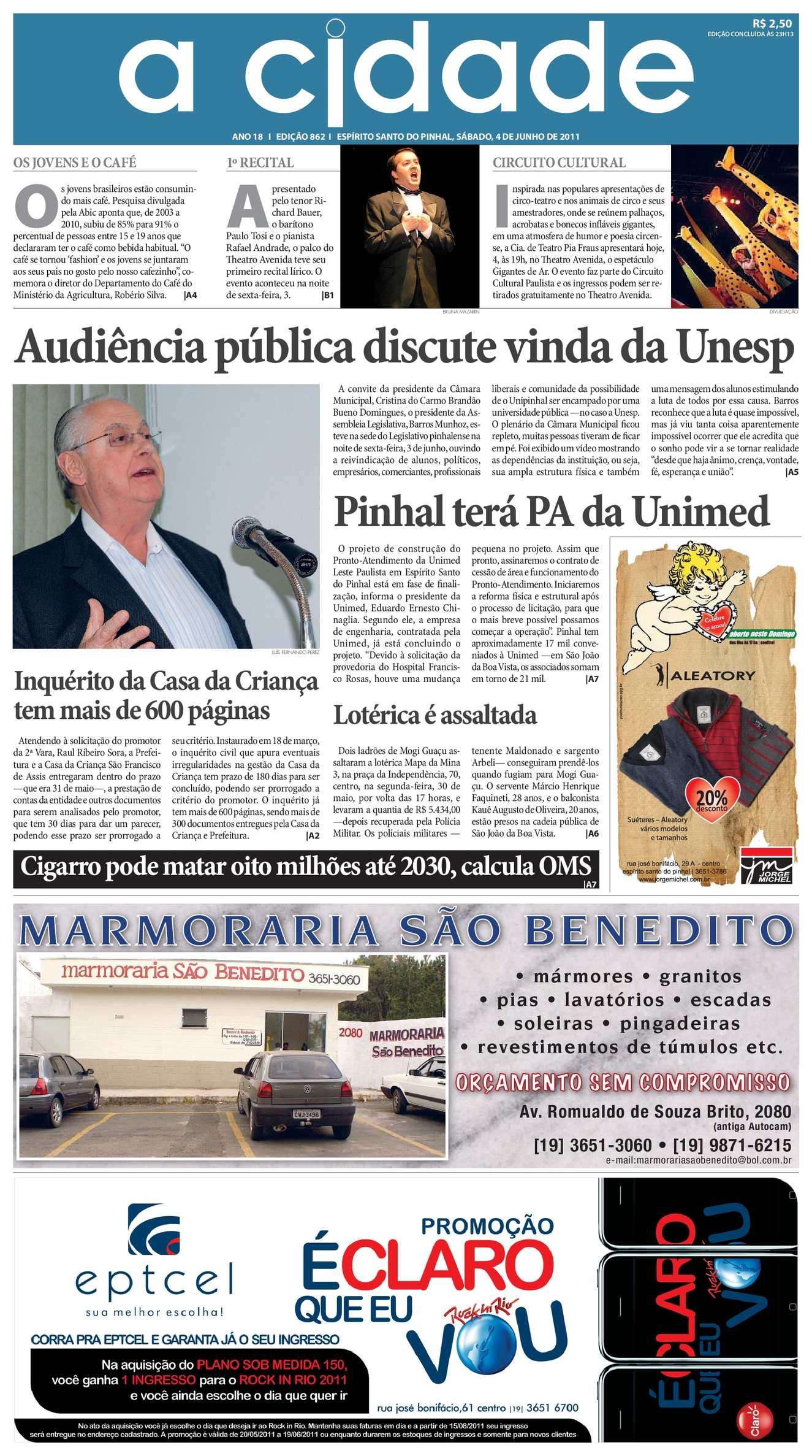 Calaméo - Jornal A Cidade - Edição 862 de 4 6 2011 8d5b53c22e
