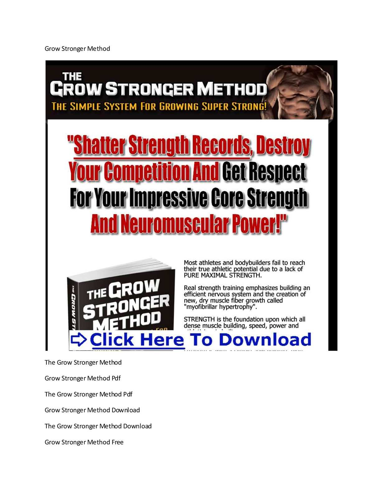 Serious Strength Training Pdf