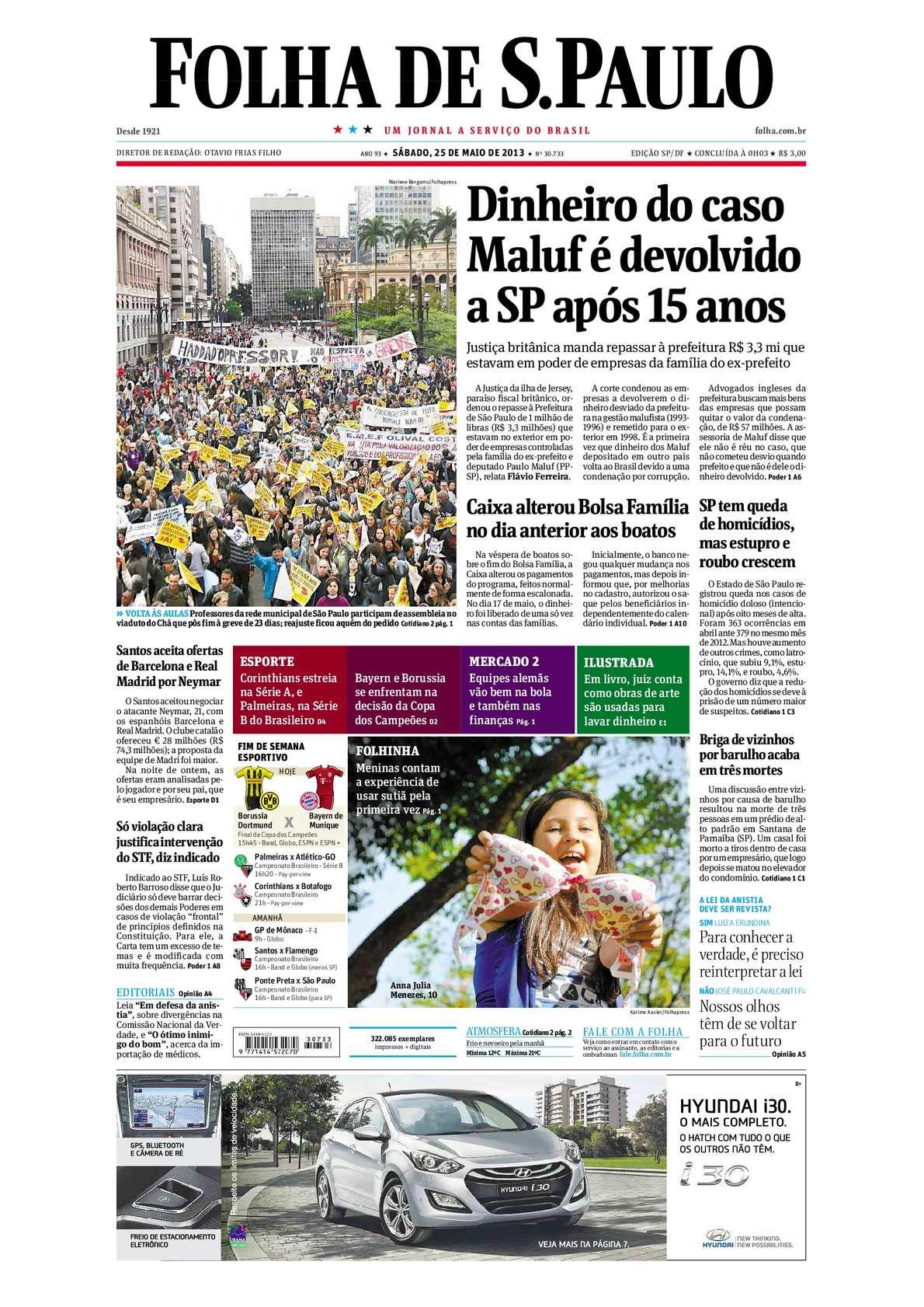 4f2710ee92 Calaméo - Folha de São Paulo 25-05-2013