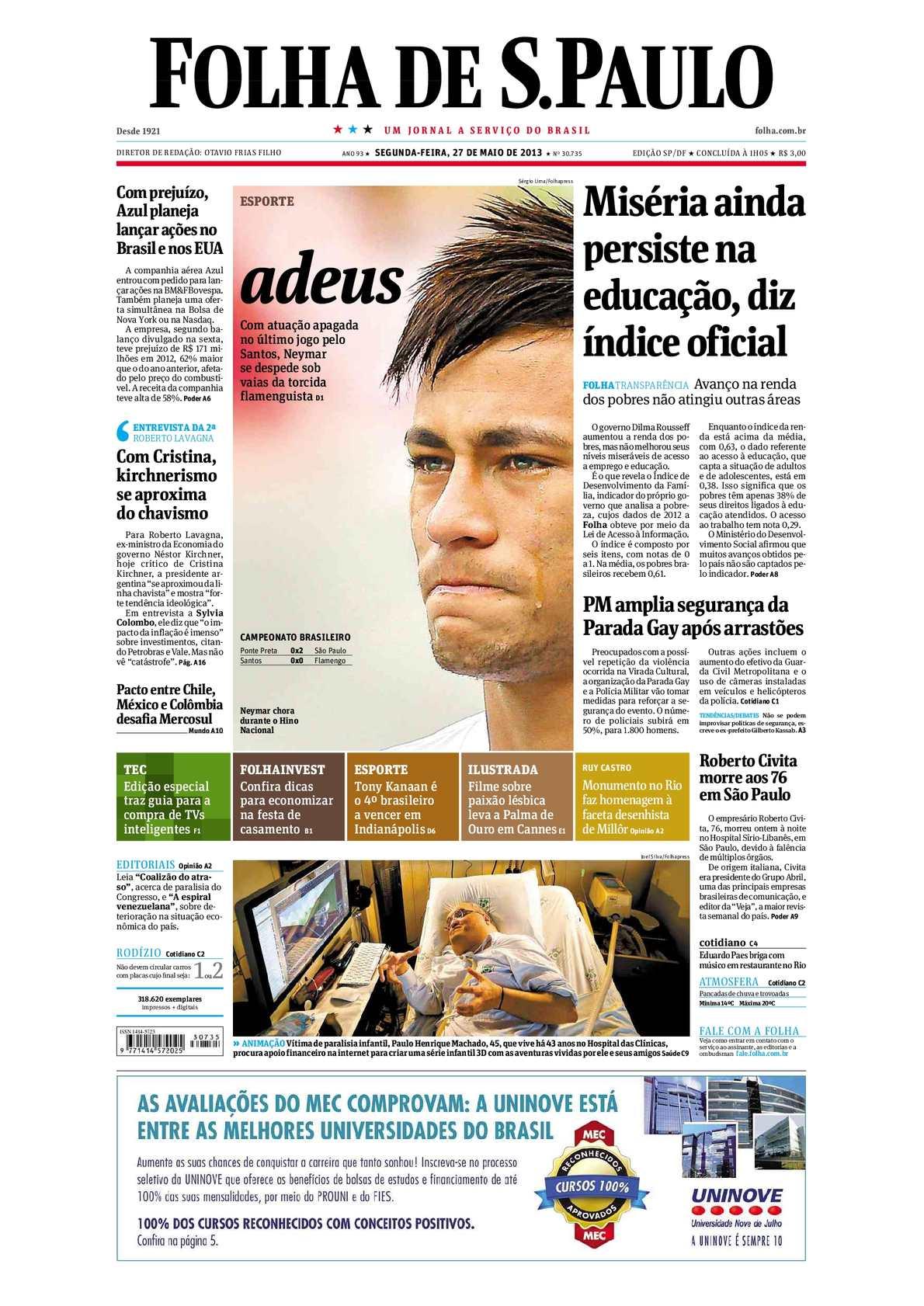 199643921169d Calaméo - Folha de São Paulo 27-05-2013