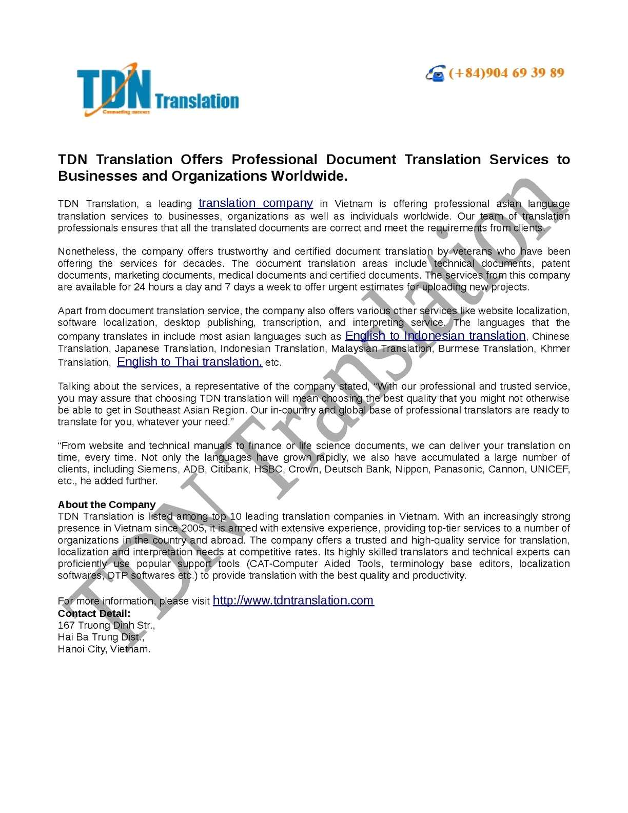 Calaméo - TDN Translation Offers Professional Document