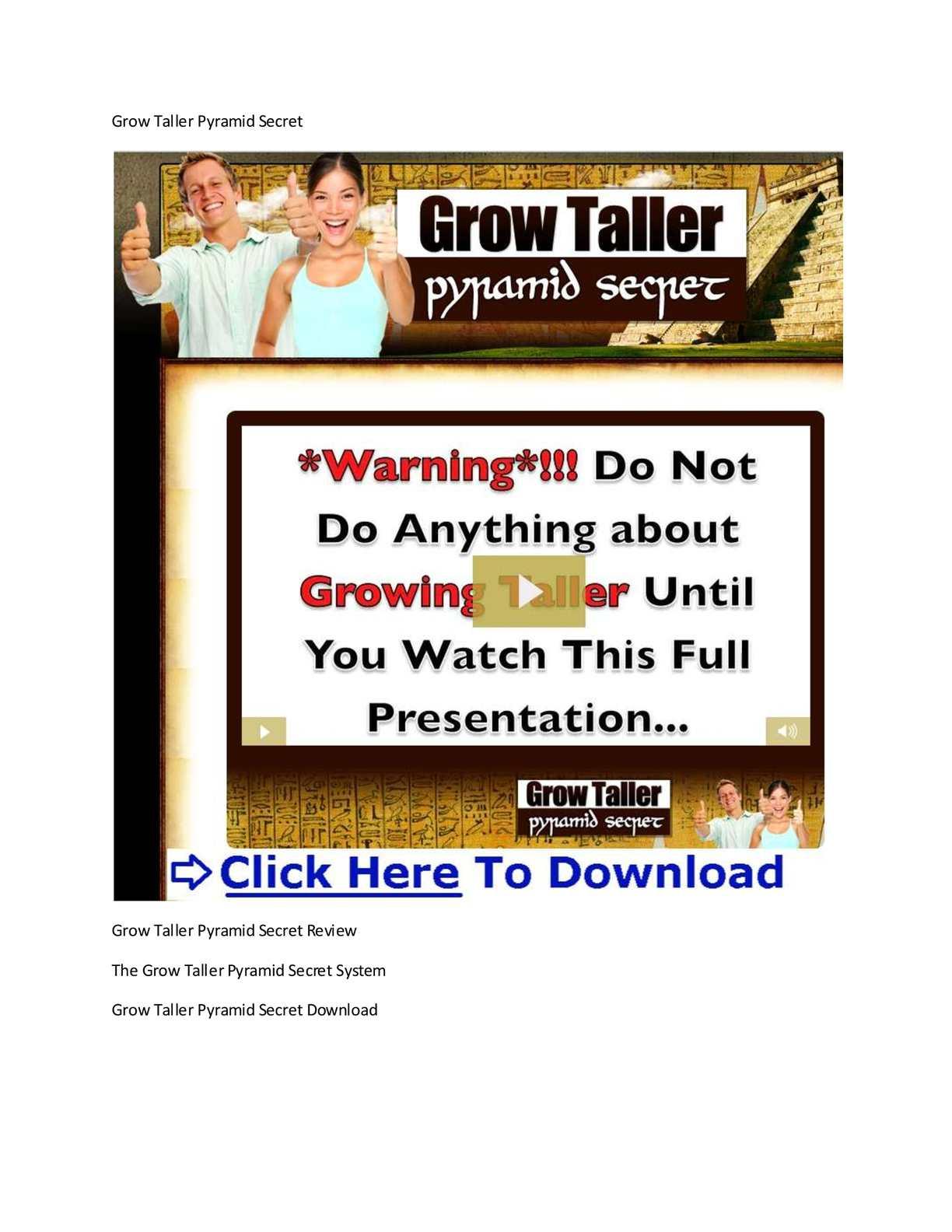 Grow Taller Pyramid Secret Pdf