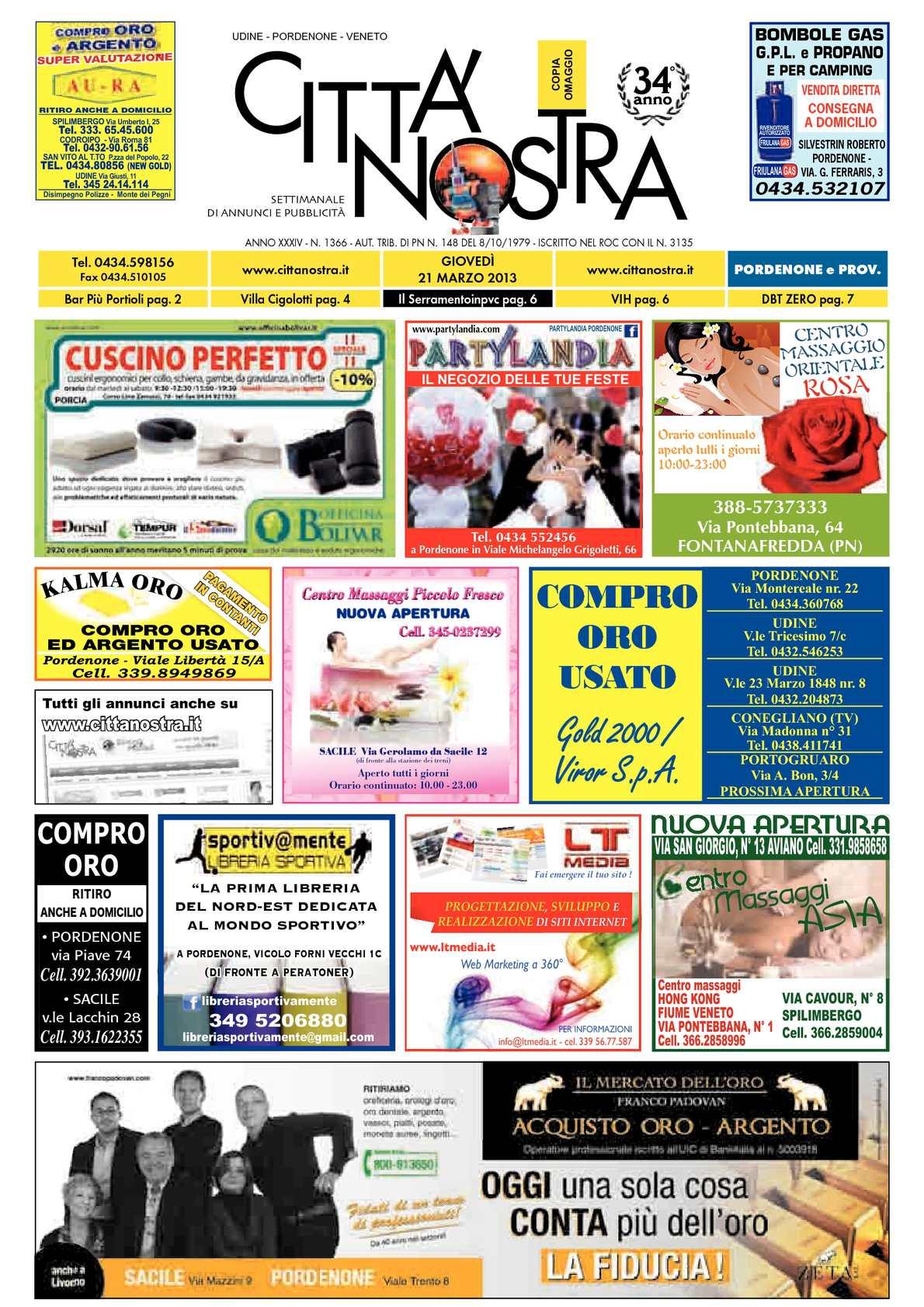 info for 19e17 b0a13 Calaméo - Città Nostra Pordenone del 21.03.2013 n. 1366