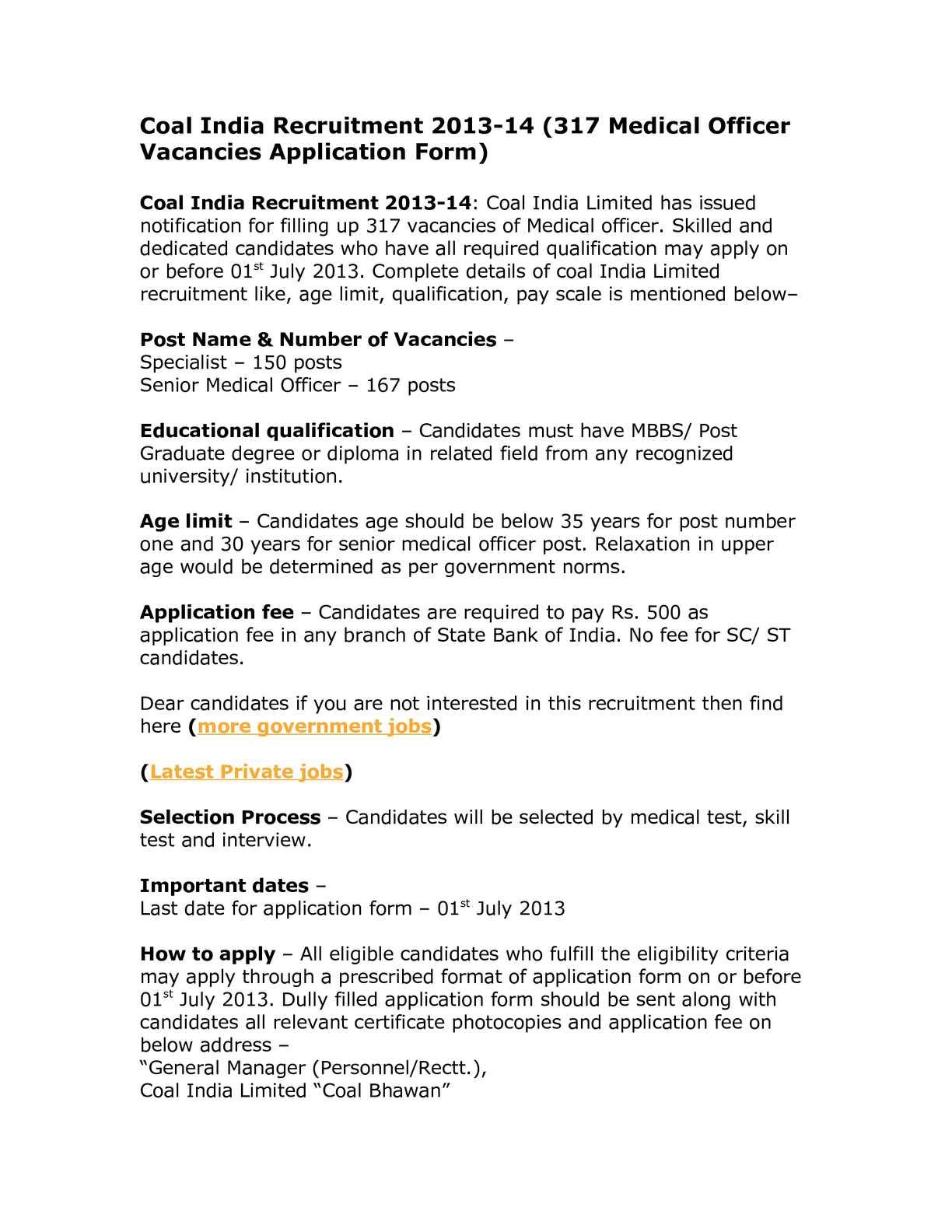 Calaméo - Coal India Recruitment 2013-14