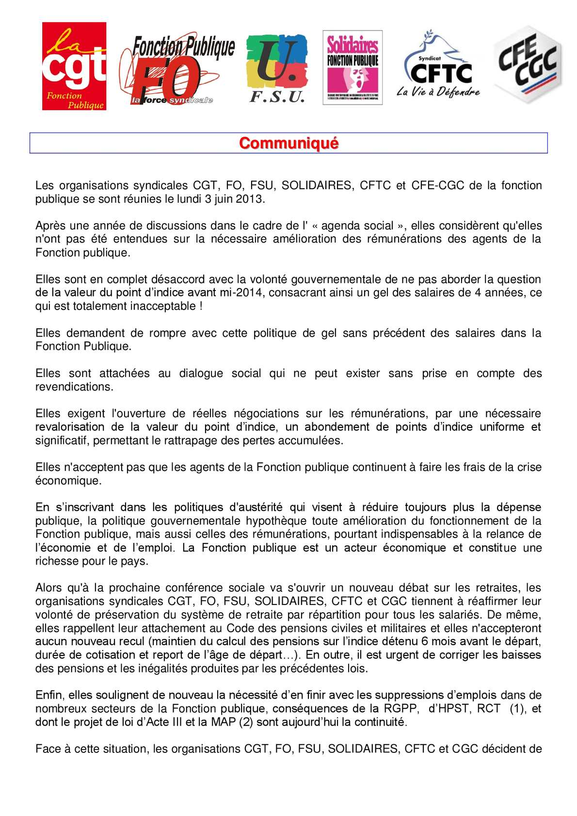 8648ae64647 Calaméo - 2013-06-07 COMMUNIQUE COMMUN DES SIX OS