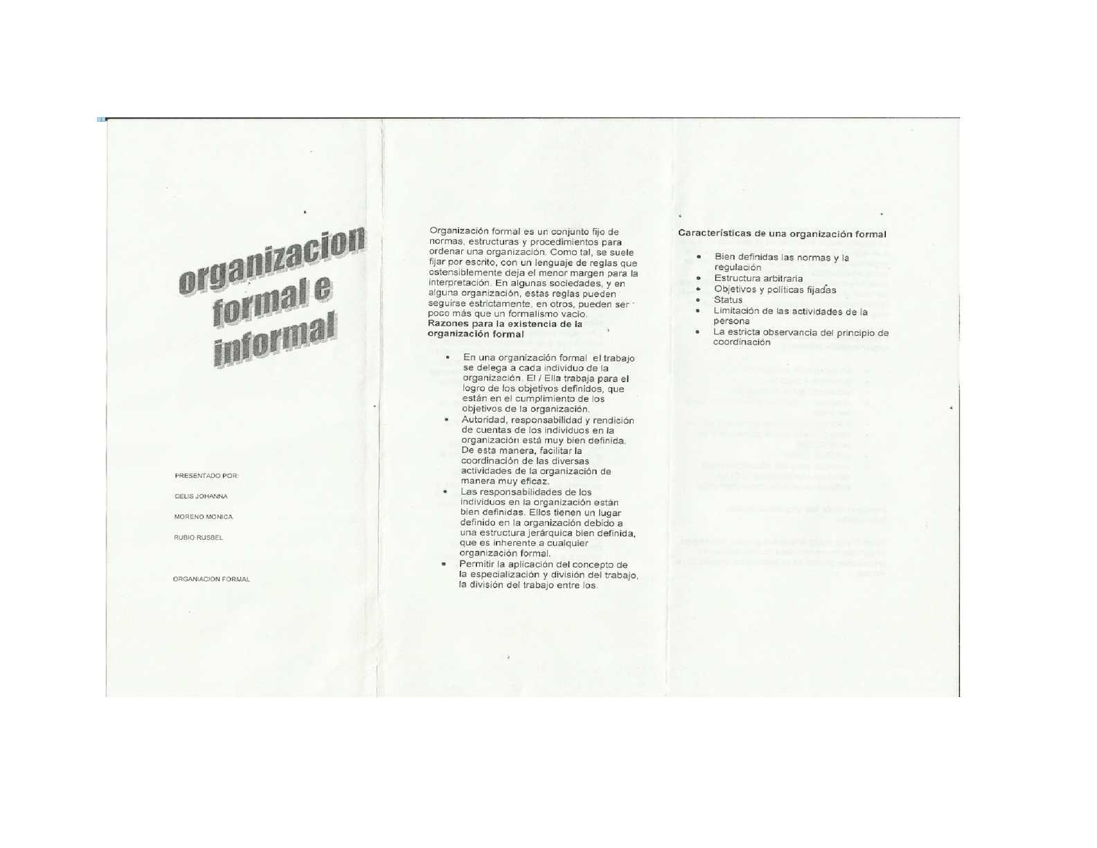 Calaméo Organización Formal E Informal