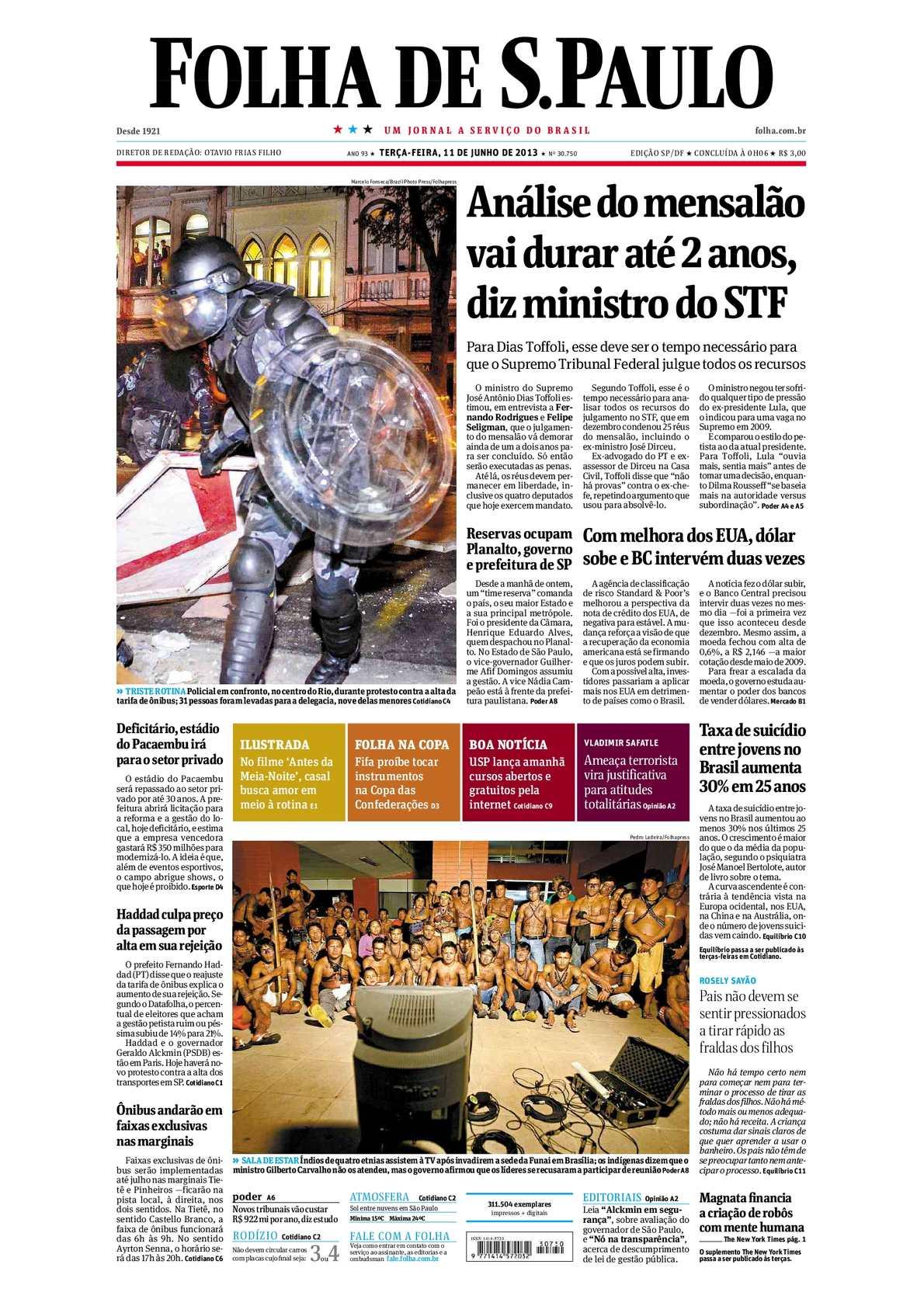 Calaméo - Folha de São Paulo 11-06-13 9faaf19fdc