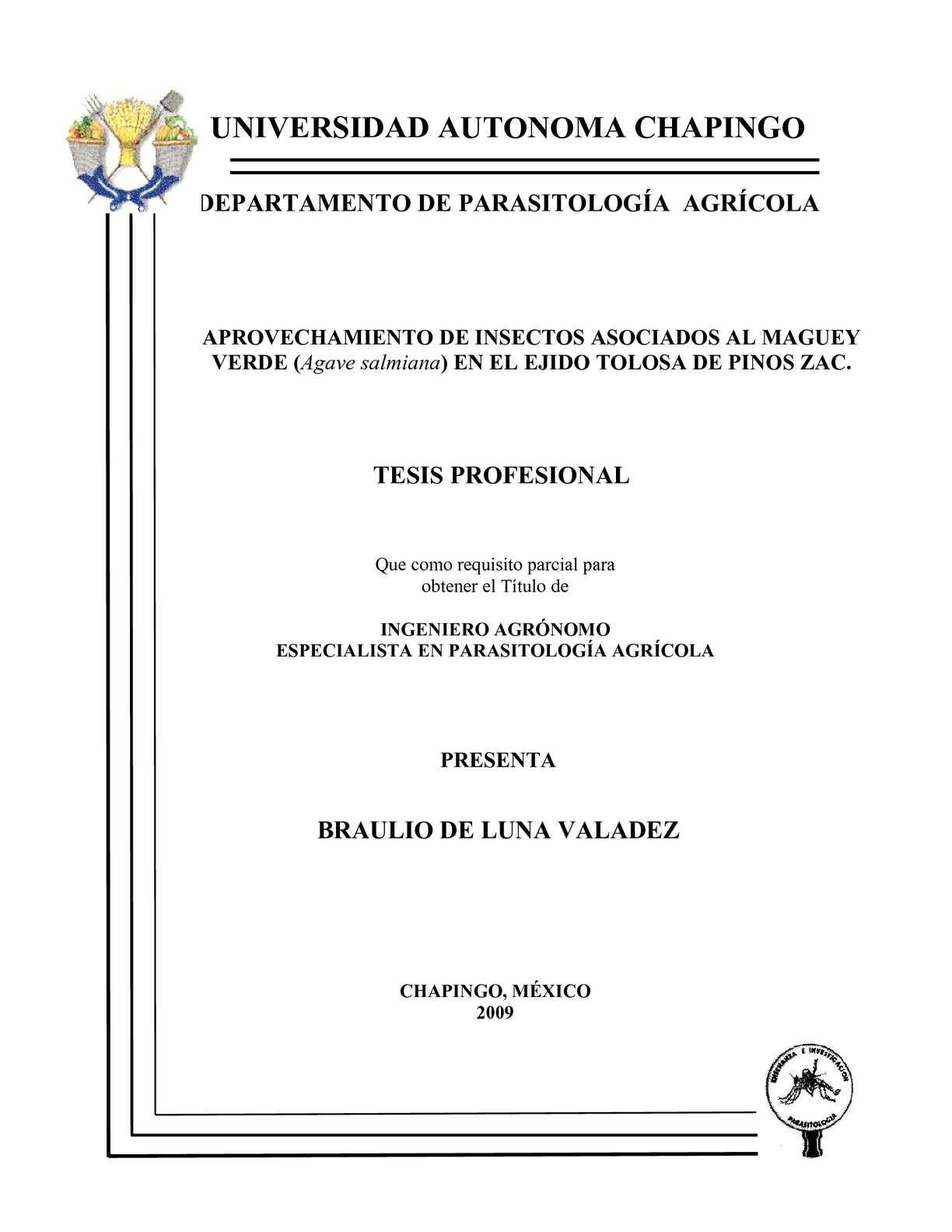 parasitología chapingo