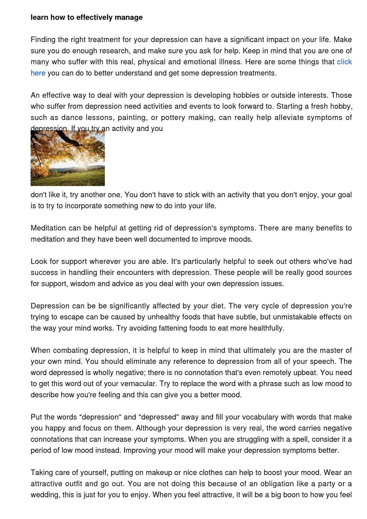 how to focus depression