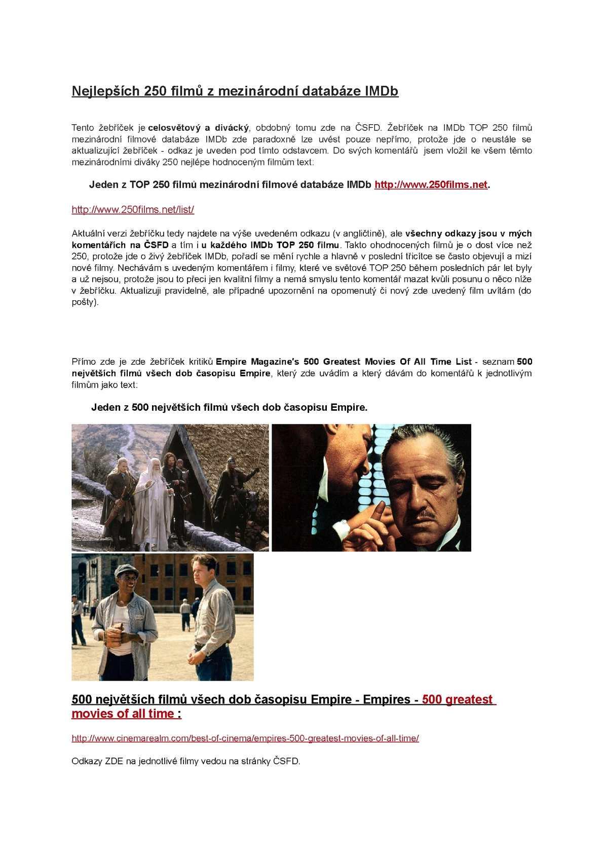 Wedding Crashers Imdb.Calameo Nejlepsich 250 Filmu Z Mezinarodni Databaze Imdb
