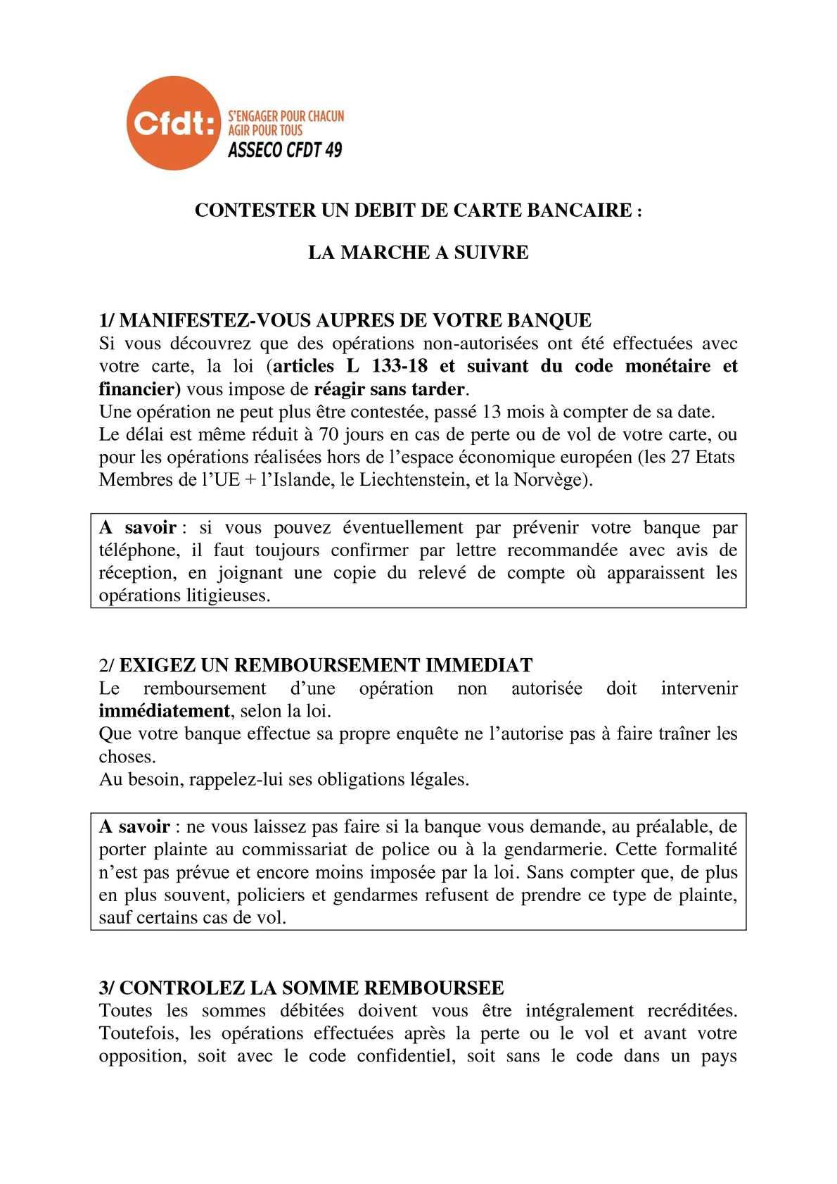 contester un débit carte autorisé Calaméo   ASSECO CFDT : contester un débit carte bancaire