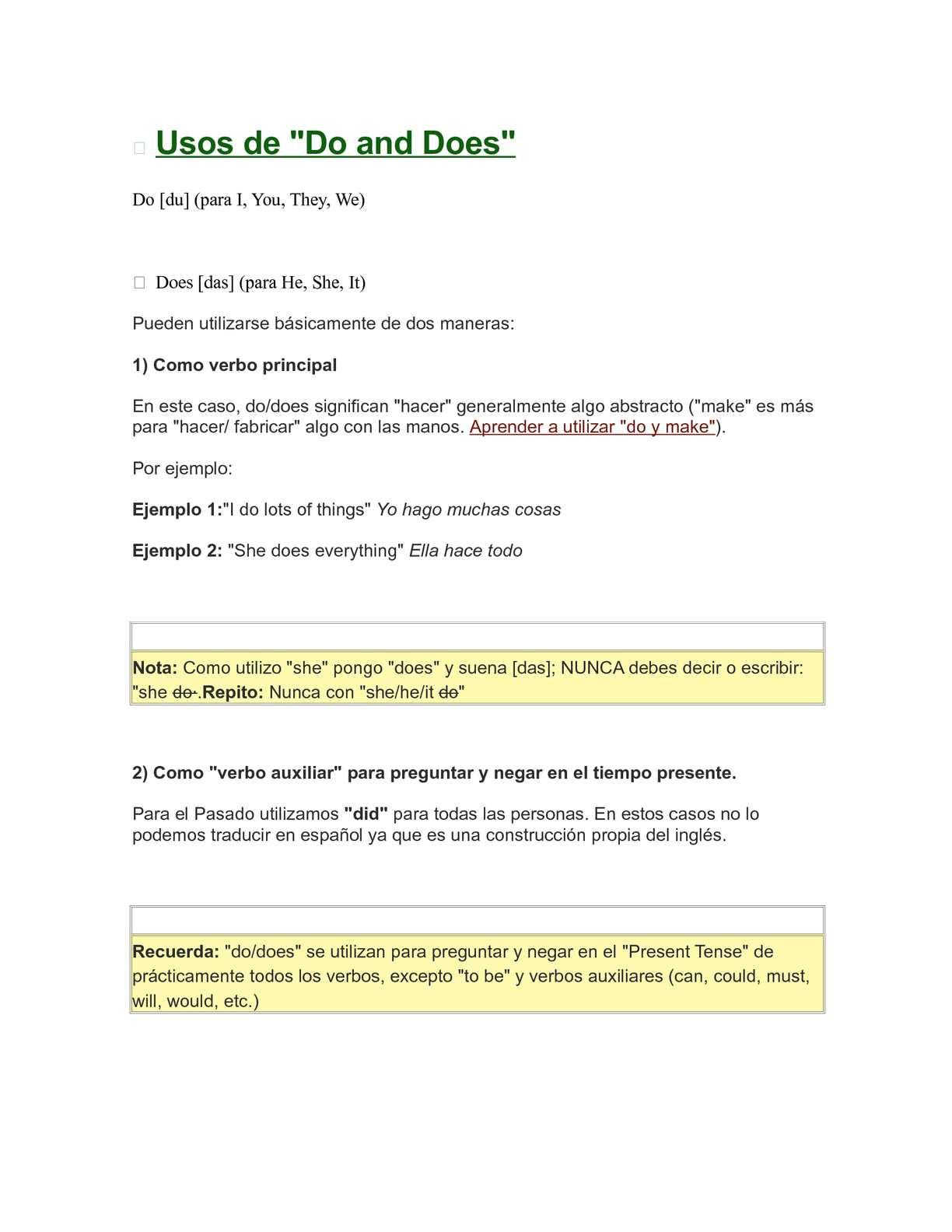 Como se niega el verbo to be en ingles