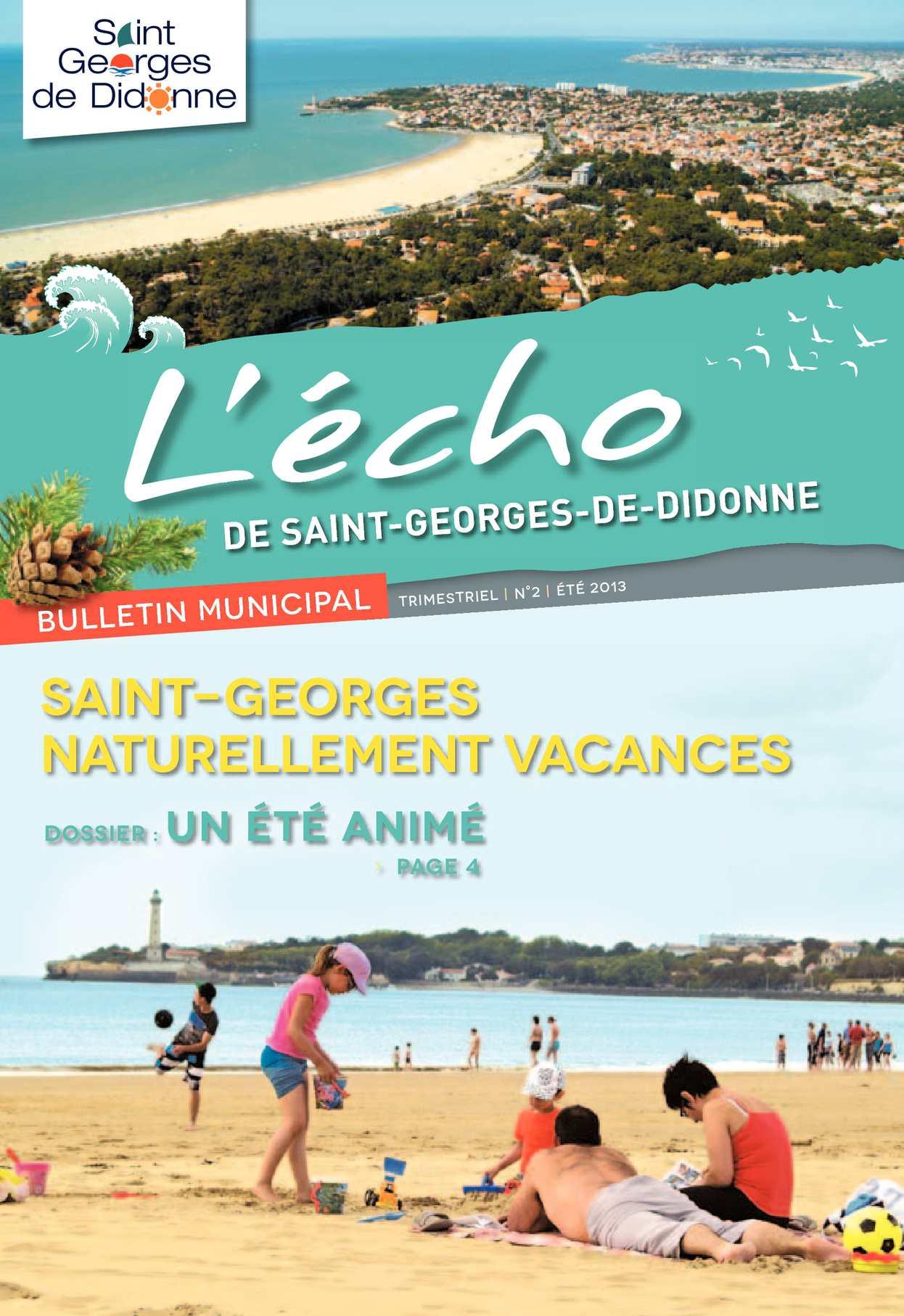 Anima Conseil Saint Georges De Didonne calaméo - l'écho n°2 juin 2013