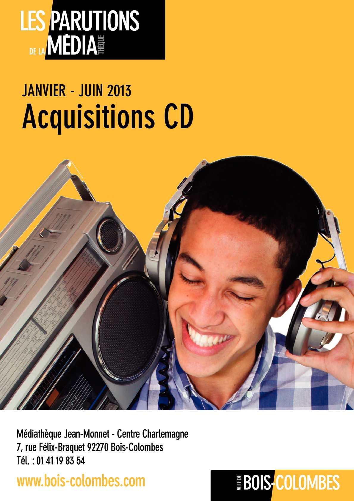 calam o catalogue nouveaut s cd janvier juin 2013 m diath que bois colombes. Black Bedroom Furniture Sets. Home Design Ideas