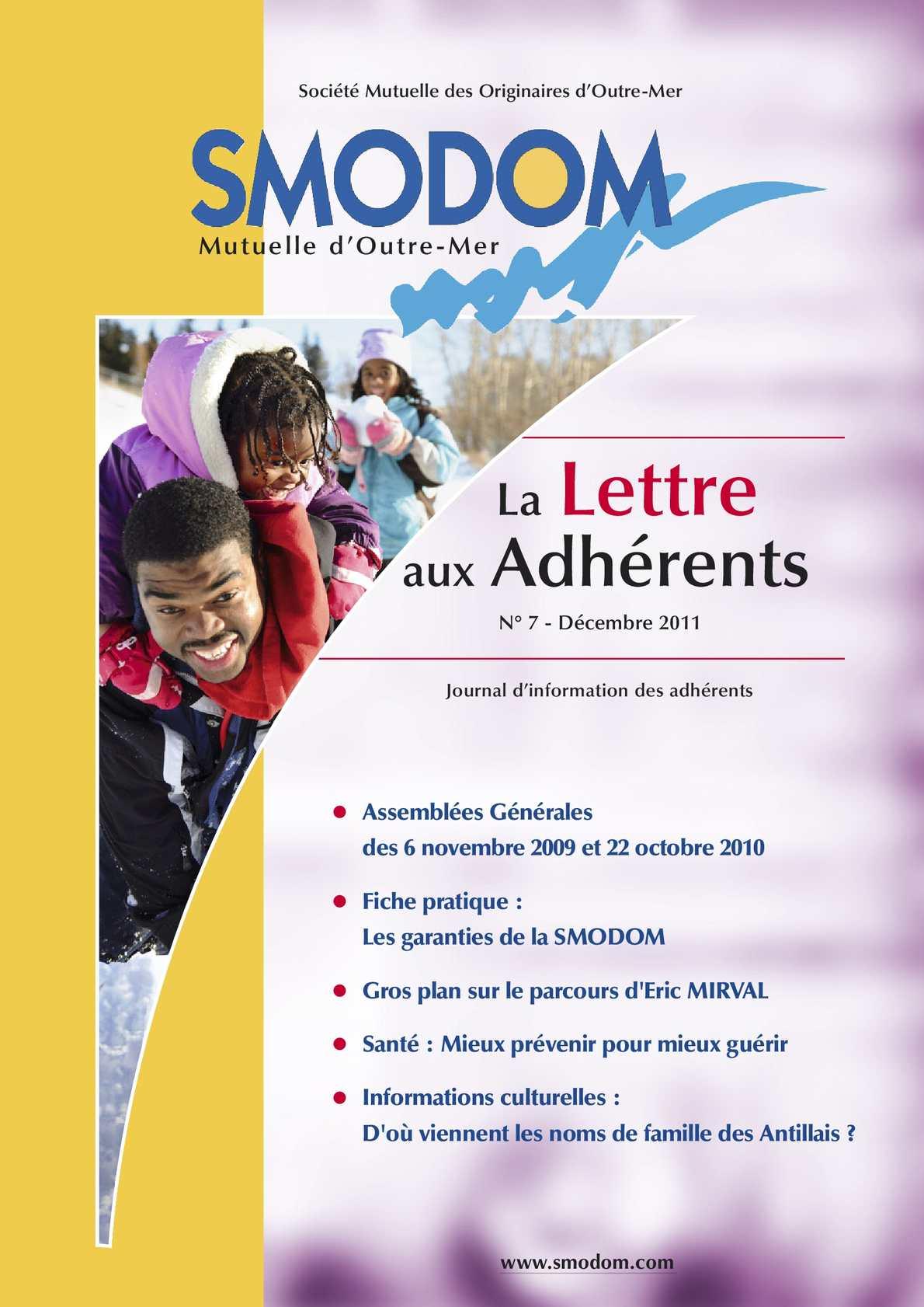 Calaméo - SMODOM - Lettre aux Adhérents n°07 - Décembre 2011 4aae020da19a