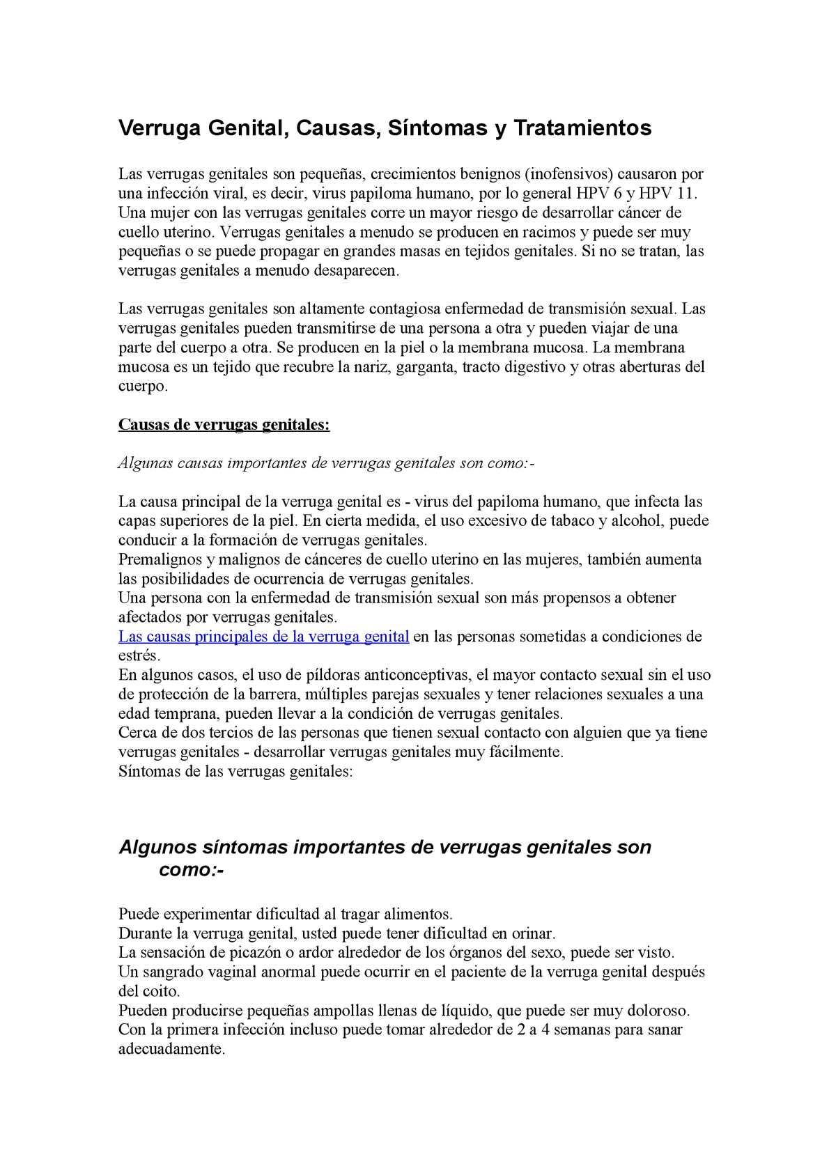 papiloma genital tratamiento