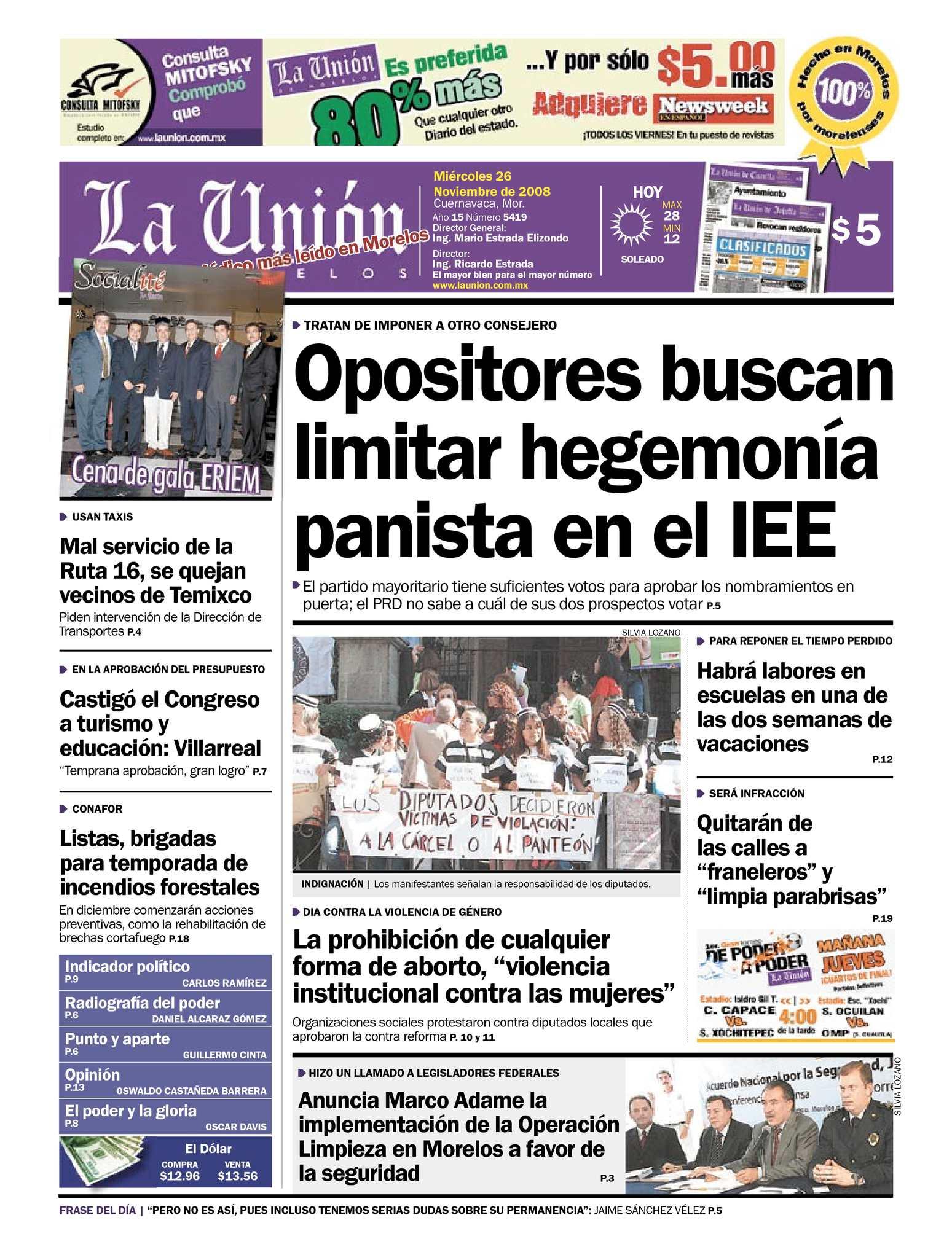 Calaméo - La Unión de Morelos 26 Noviembre 2008 90f7f9a7c8