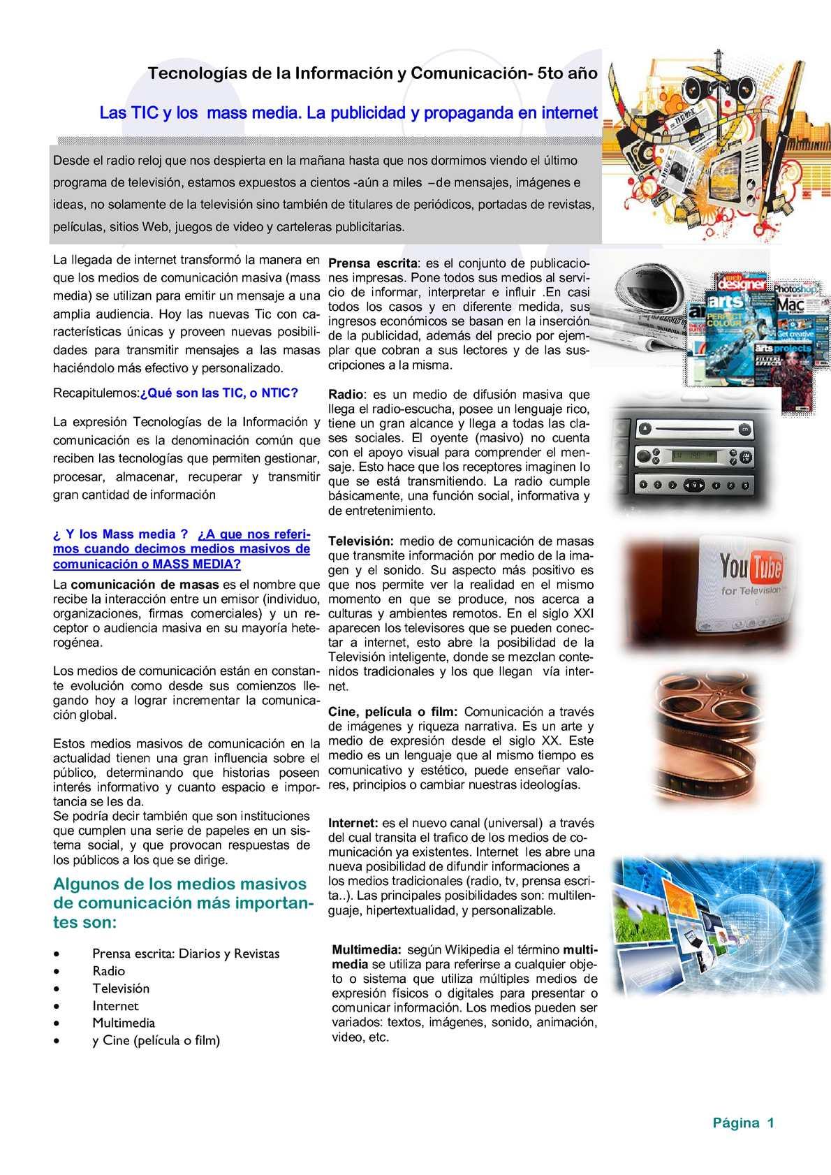 94e55b600d78 Calaméo - Los mass media y las TIC.Publicidad y propaganda en internet