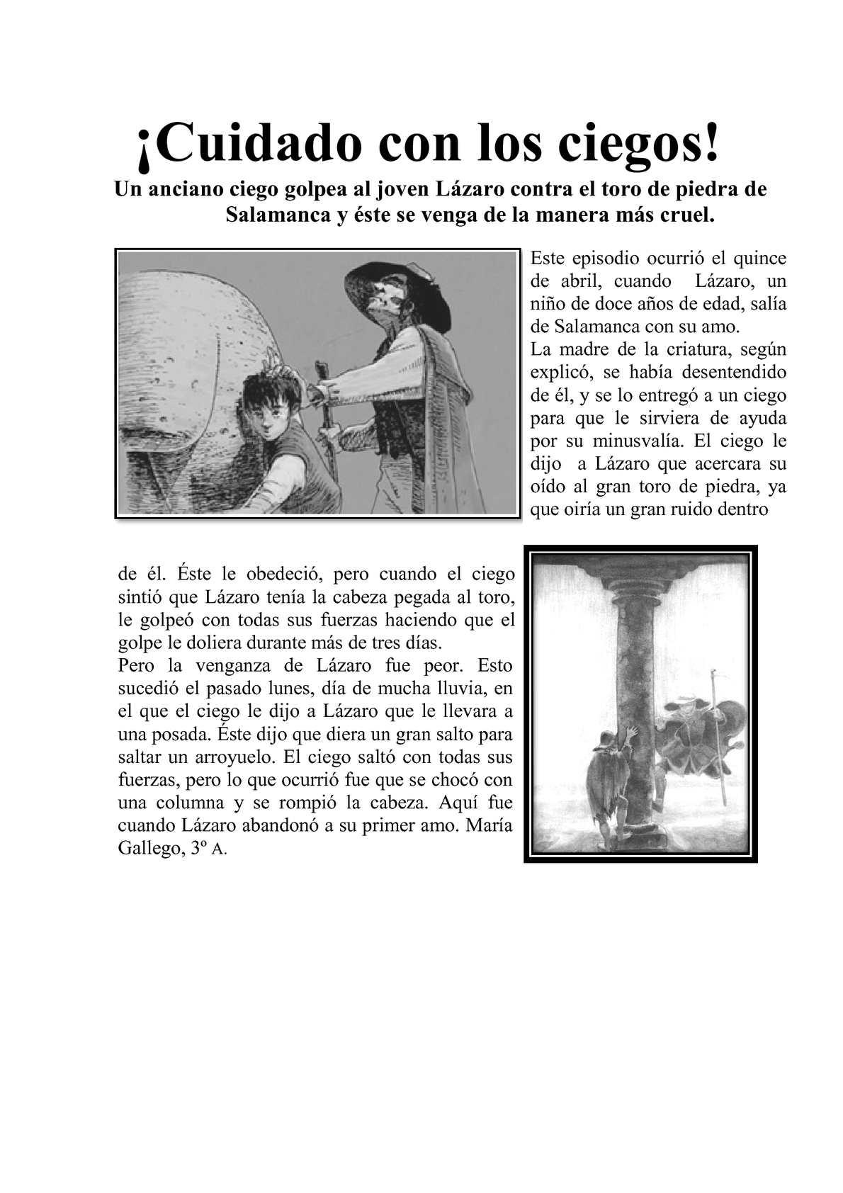"""Calaméo - Noticias de """"El Lazarillo de Tormes"""""""
