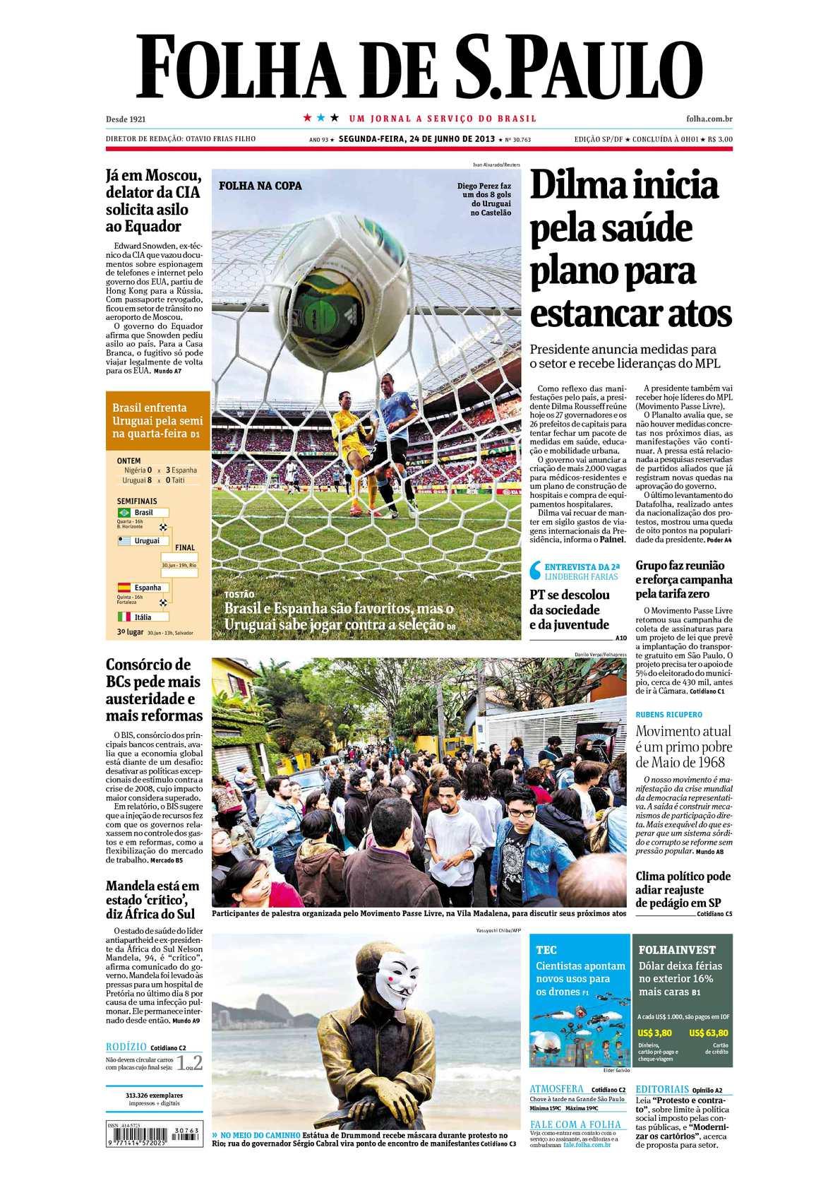 2e5f2ac0fd991 Calaméo - Folha de São Paulo 24-06-2013