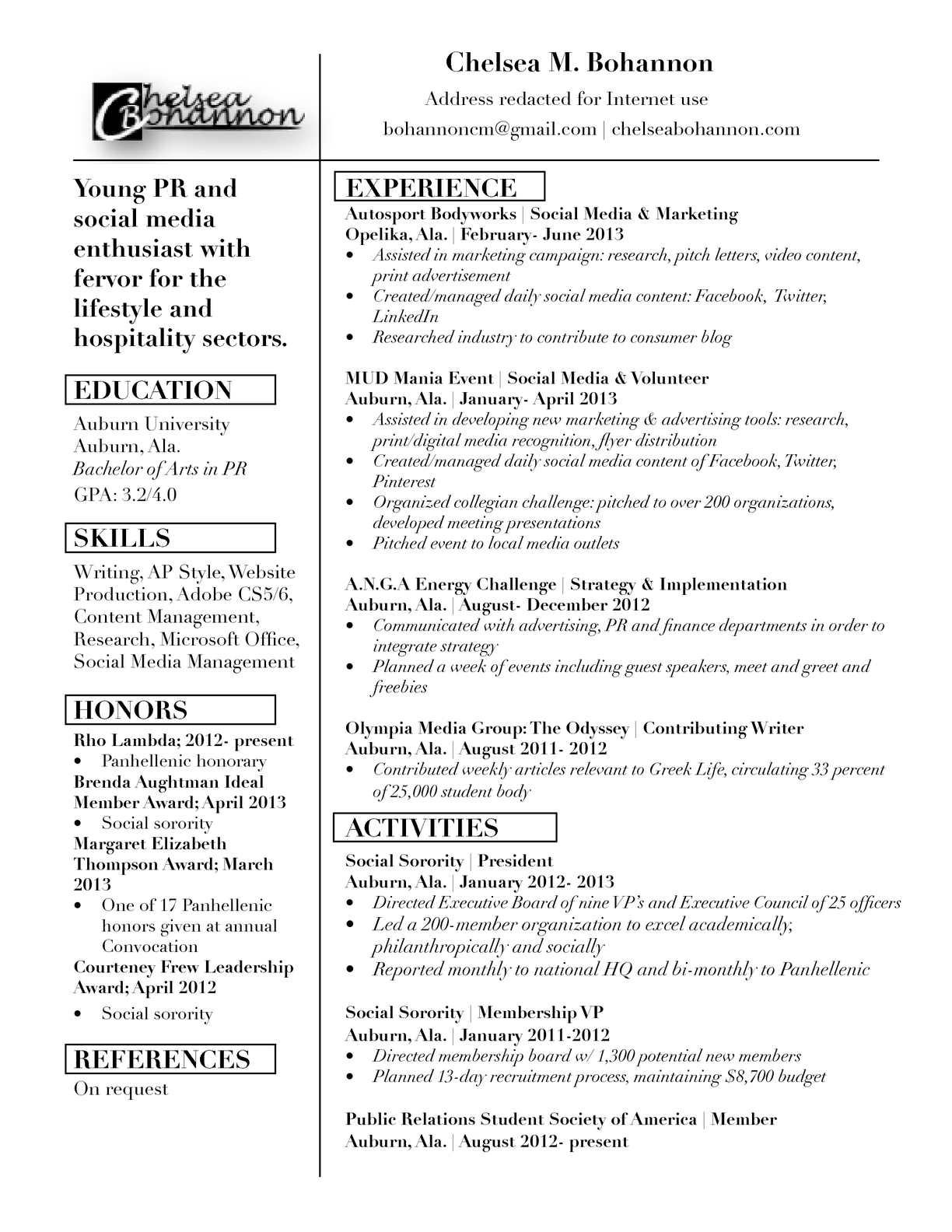 Calaméo - CBohannon Resume