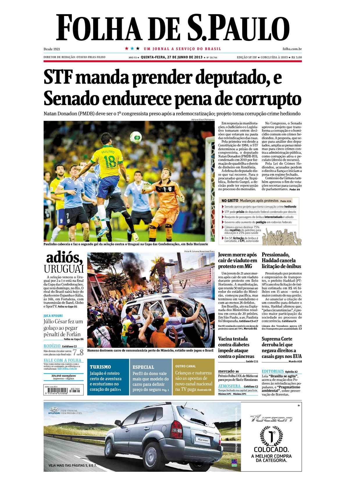 Calaméo - Folha de São Paulo 27-06-2013 09b334efa217d