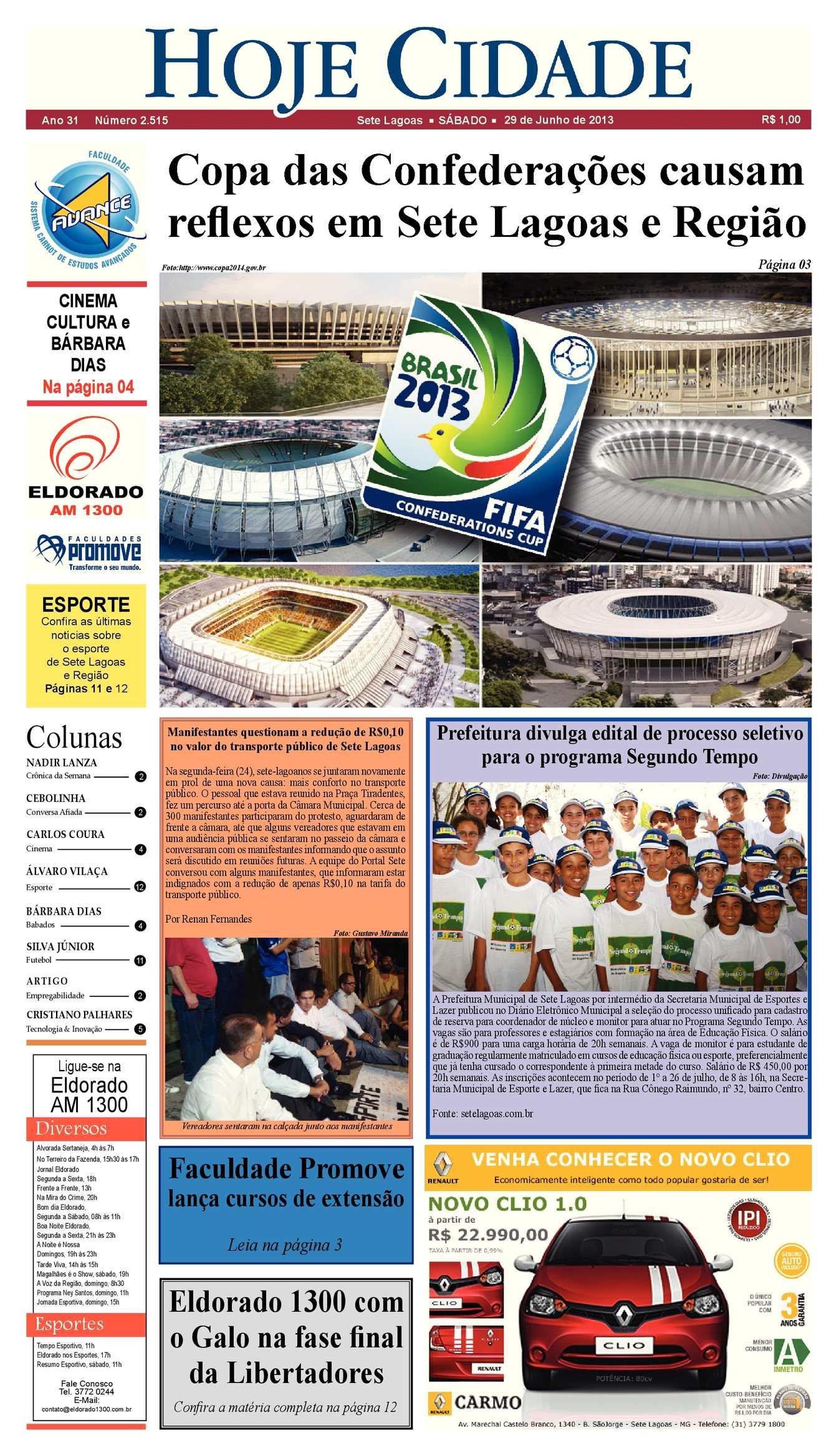 846781e485 Calaméo - Jornal Hoje Cidade dia 29 06 2013 - Edição 2515