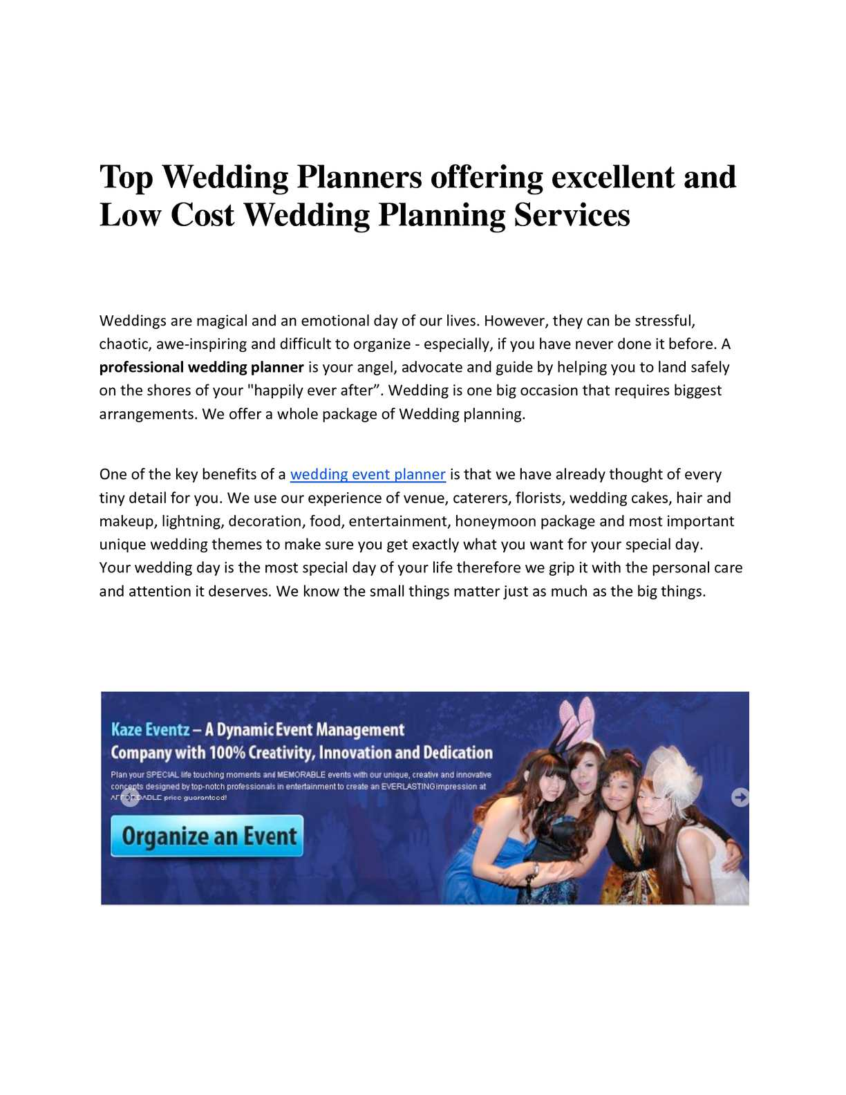 Wedding Planner Cost.Calameo Excellent And Low Cost Wedding Planning Services