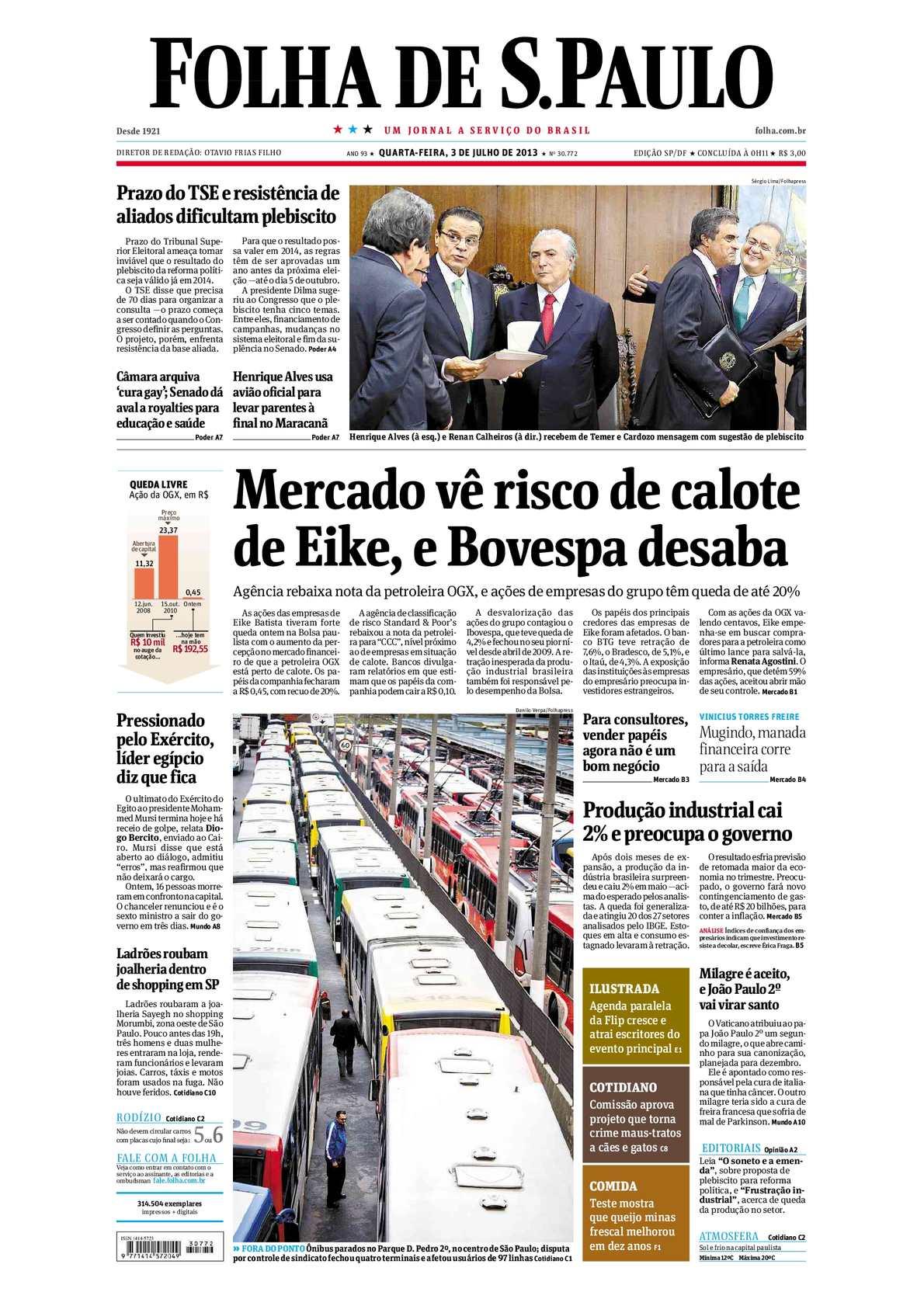 7496b594a087f Calaméo - Folha de São Paulo 03-07-13