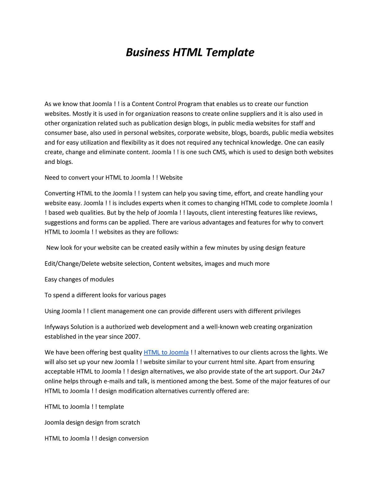 Calaméo - Business HTML Template