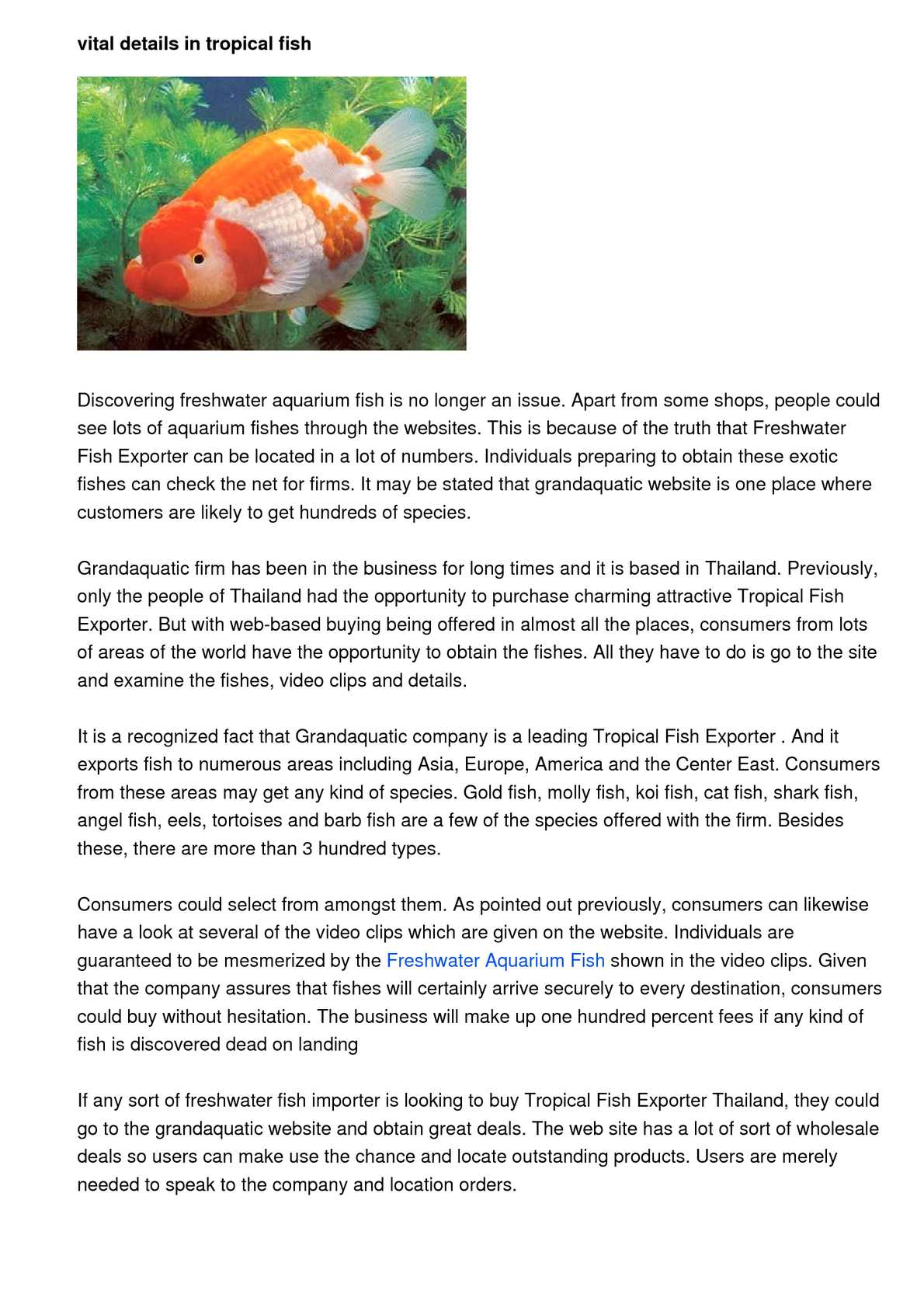 Calameo Standards For Convenient Systems In Tropical Fish Exporter