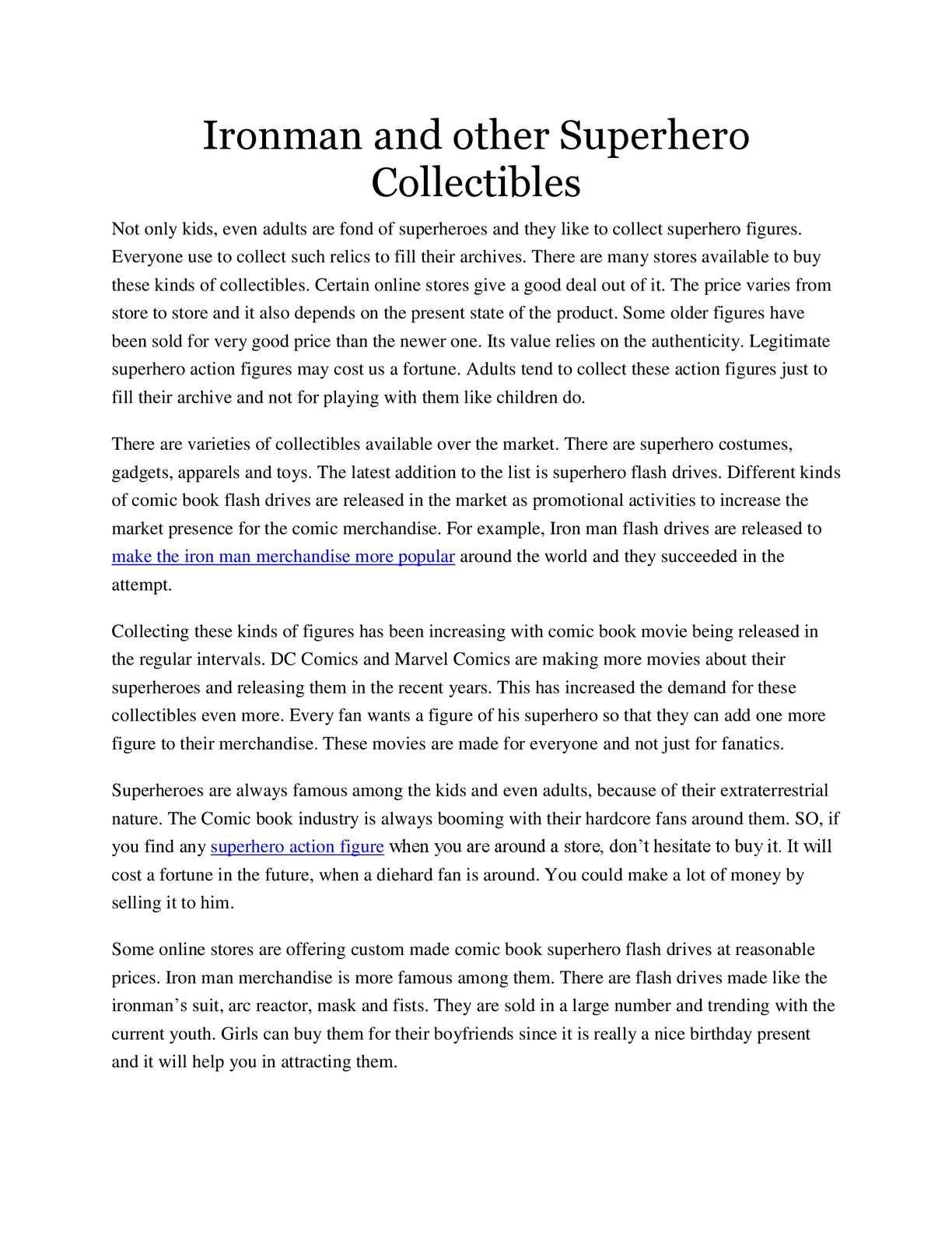 Calaméo - Ironman and other Superhero Collectibles