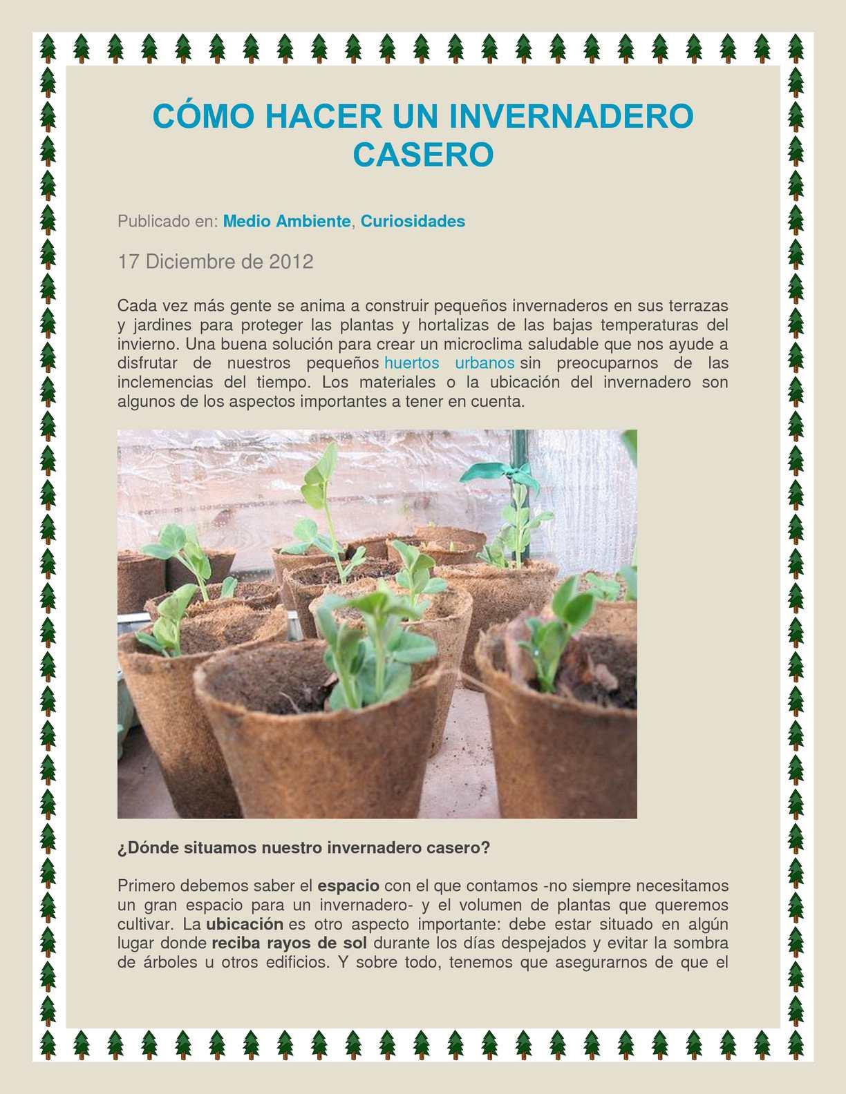 Calaméo Invernadero Casero