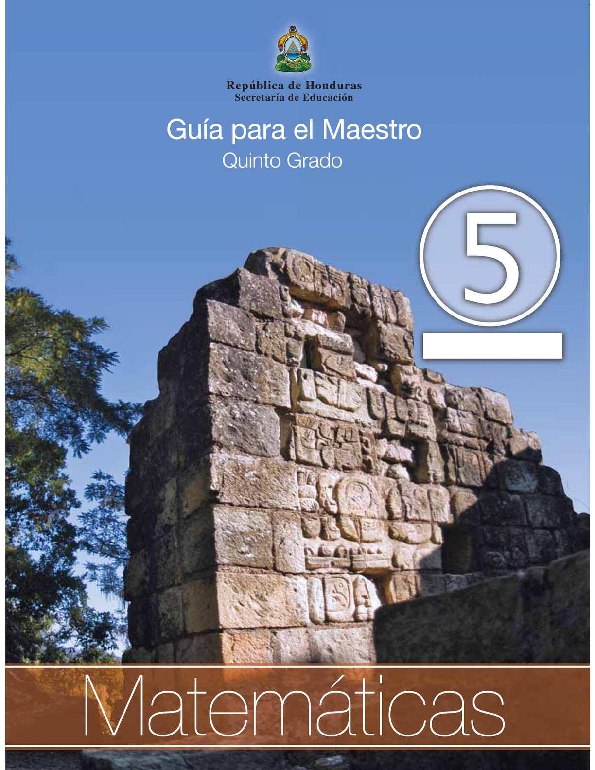Calaméo 5to Grado Guia Del Maestro Matematicas