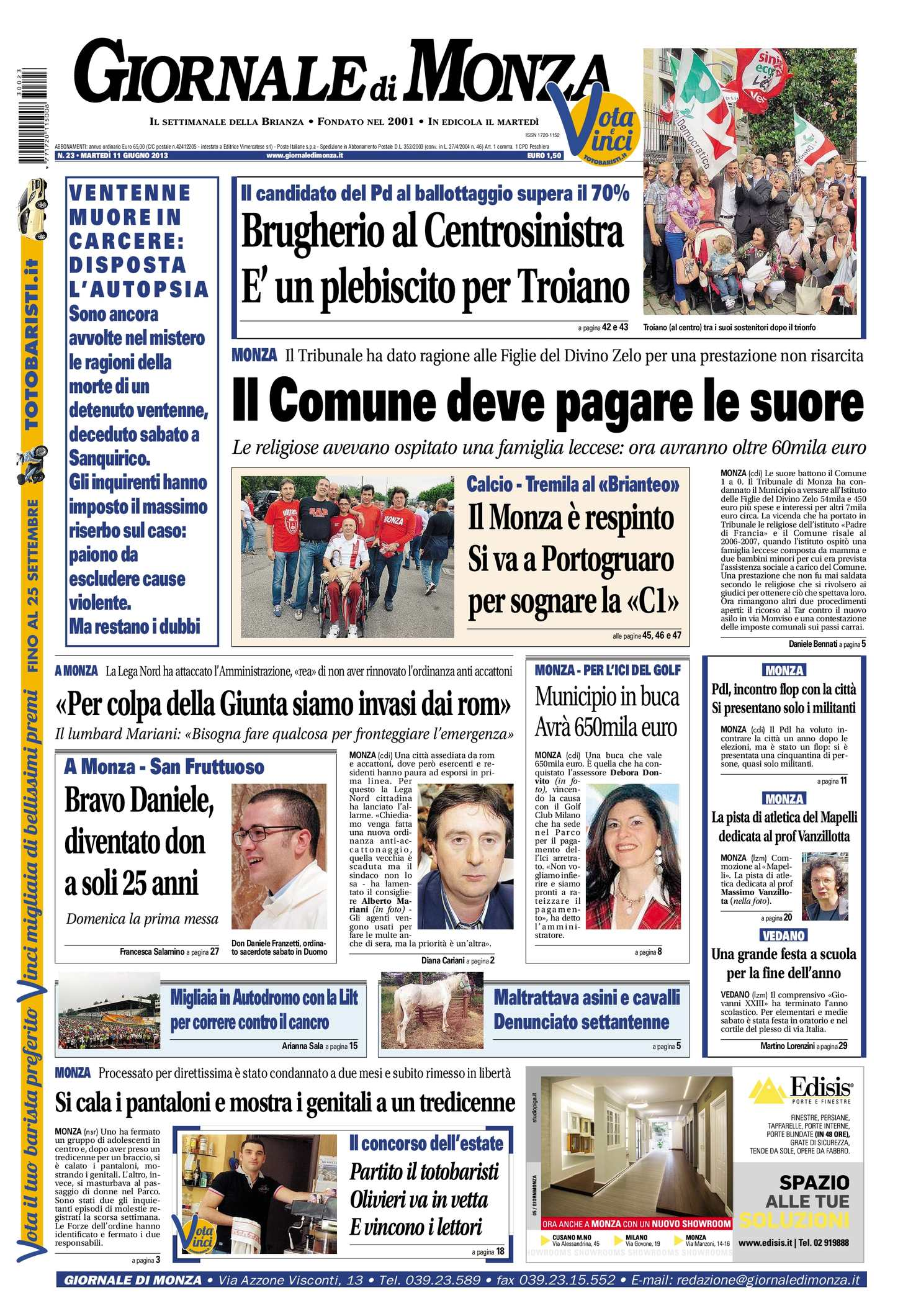 Vincenzo Rinaldi Nova Milanese calaméo - il giornale monza 11 giugno 2013