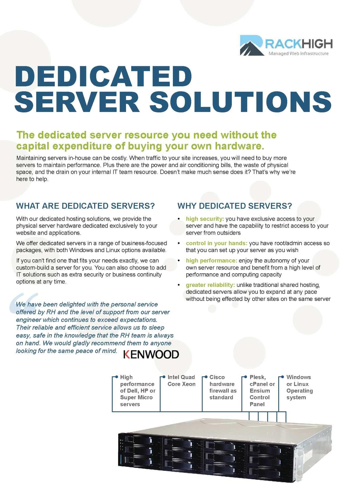 dedicated server best practices