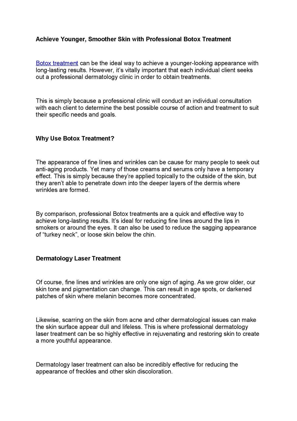 Calaméo - botox treatment