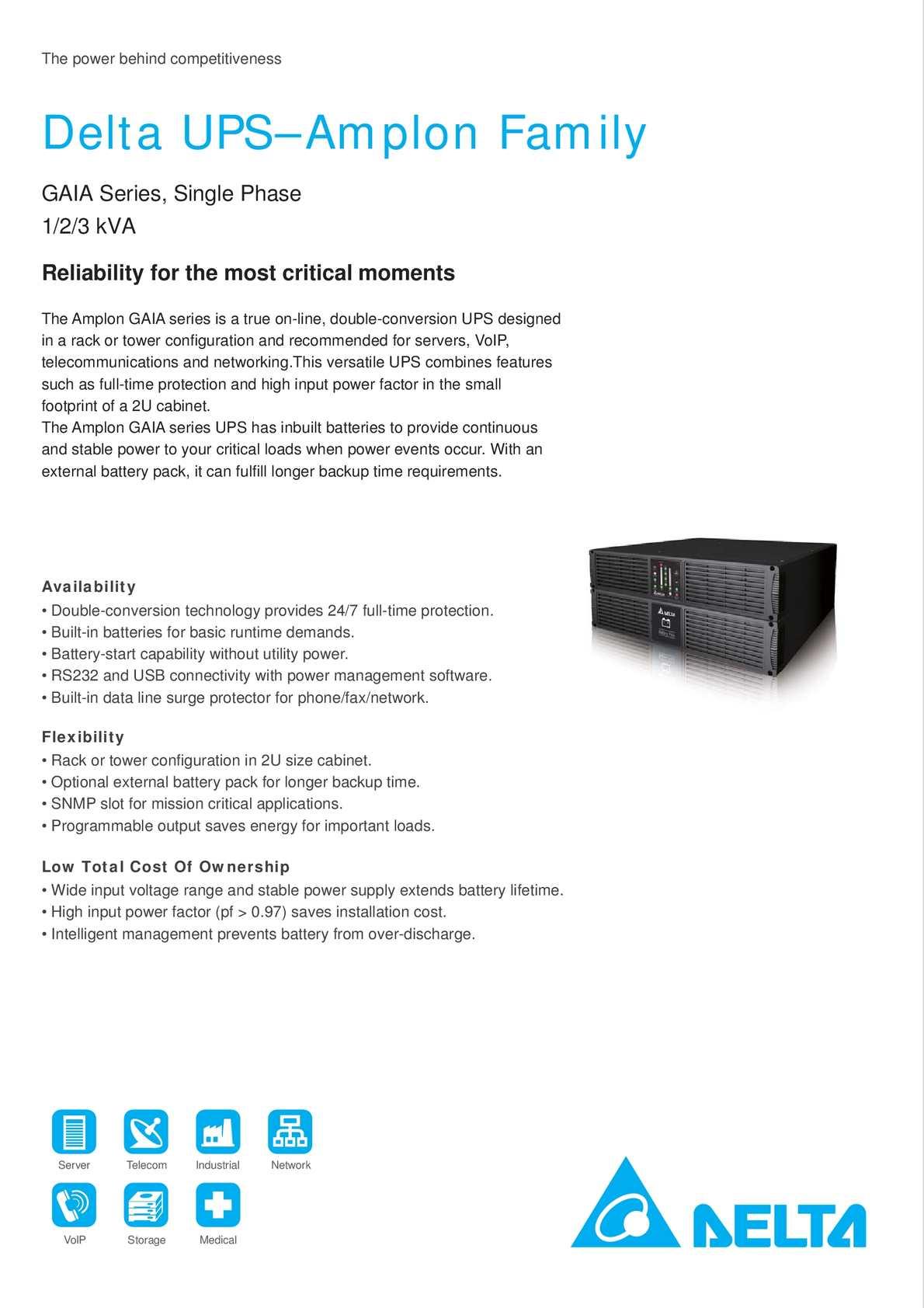 Calaméo - Deltapowersolutions com - Amplon GAIA Series 1-2-3