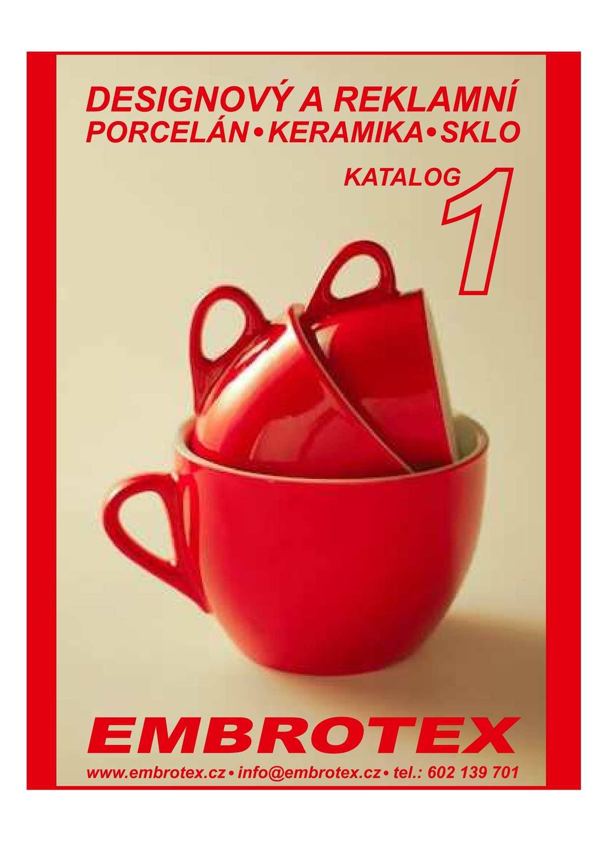 Designový reklamní porcelán 1 katalog
