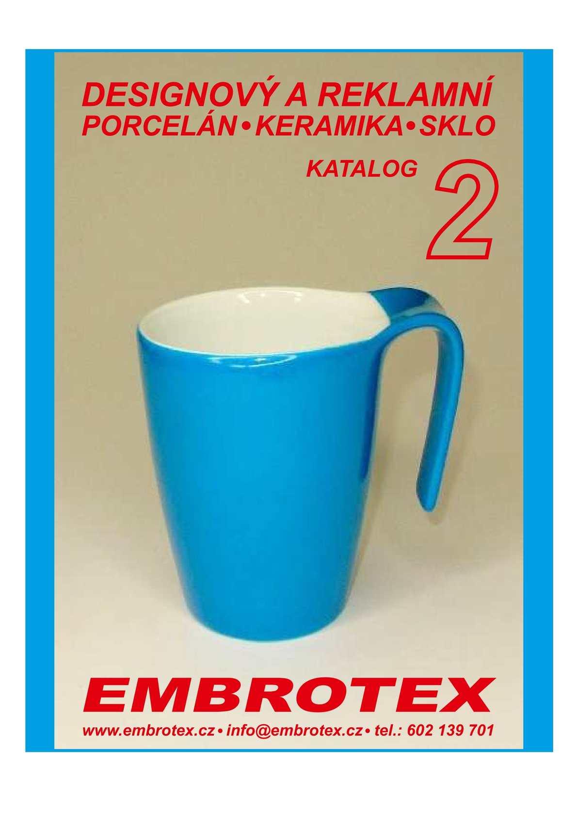 Designový reklamní porcelán 2 katalog